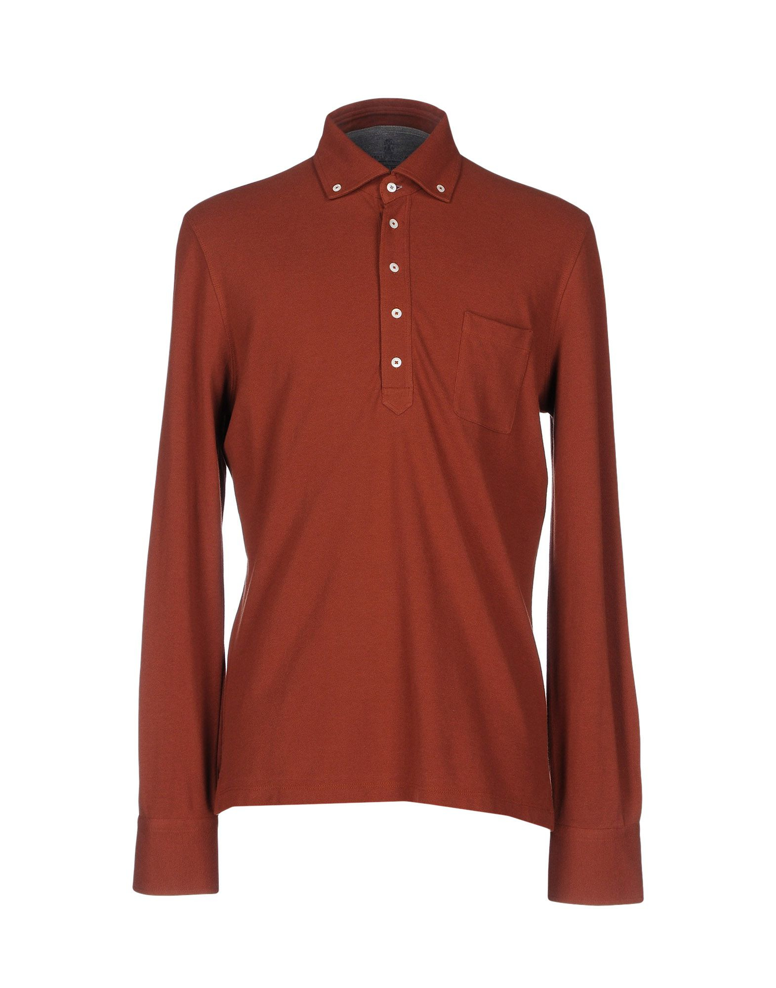 Lyst Brunello Cucinelli Polo Shirt In Brown For Men