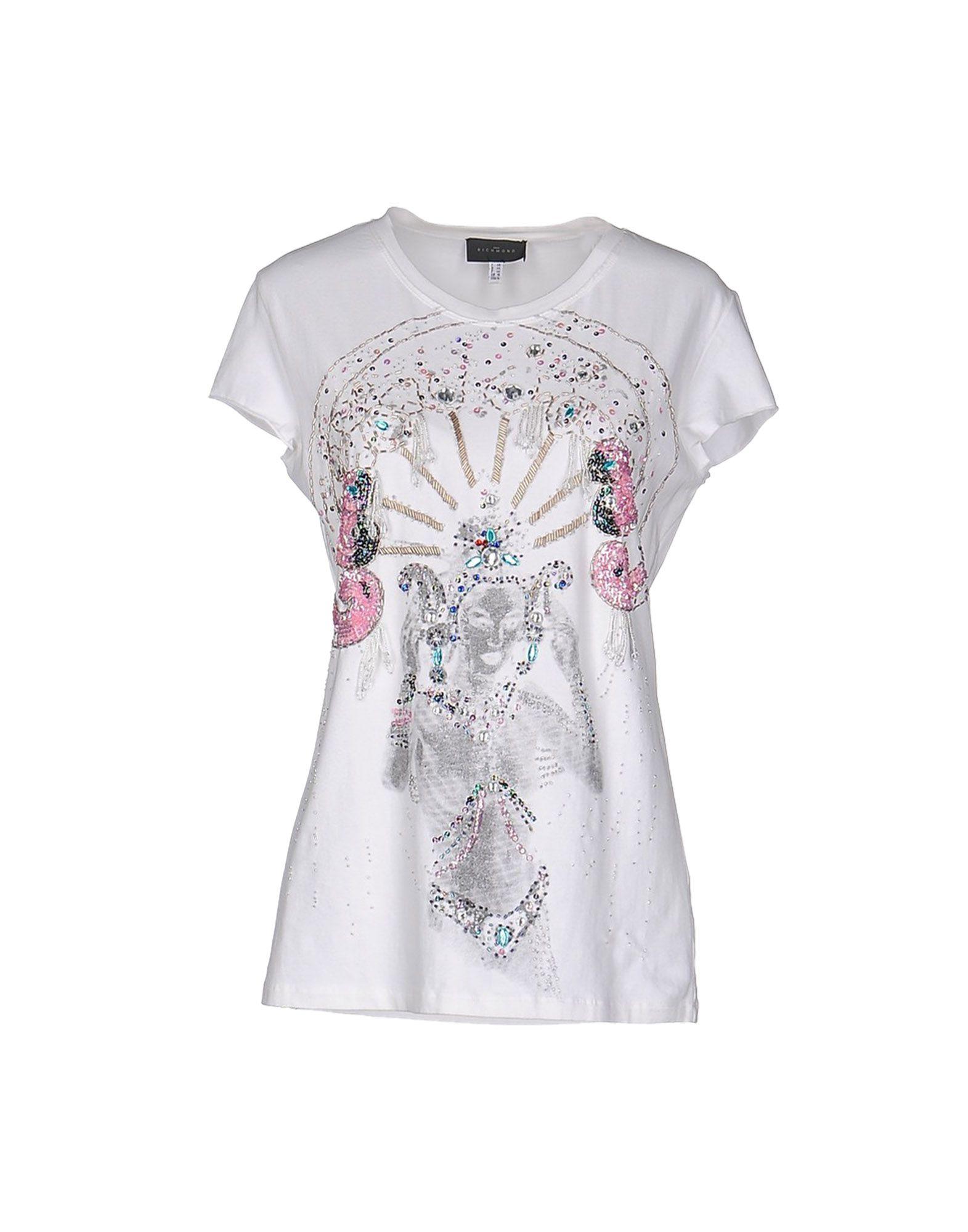 Lyst john richmond t shirt in white for T shirt printing richmond va