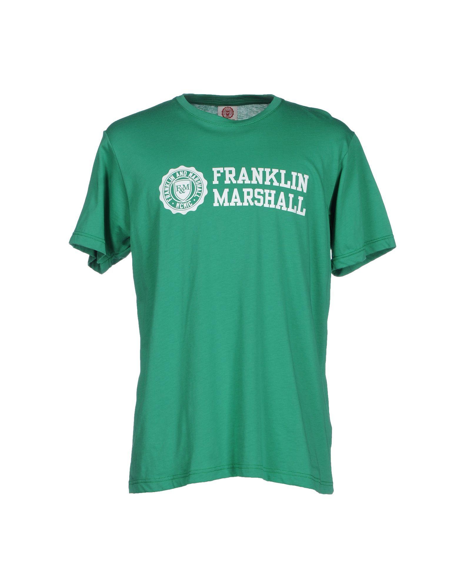 Lyst franklin marshall t shirt in green for men for T shirt printing mobile al