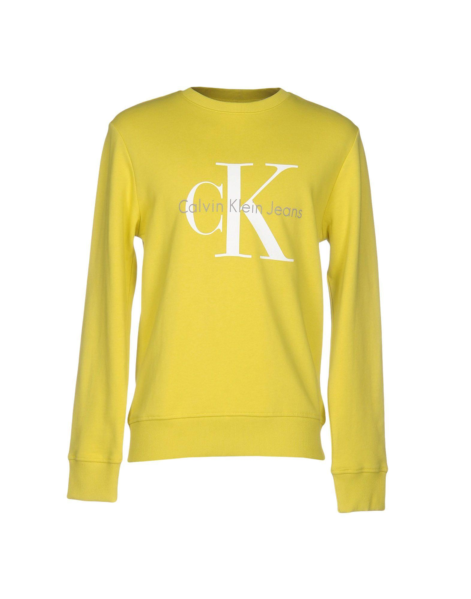 calvin klein jeans sweatshirt in yellow for men lyst. Black Bedroom Furniture Sets. Home Design Ideas