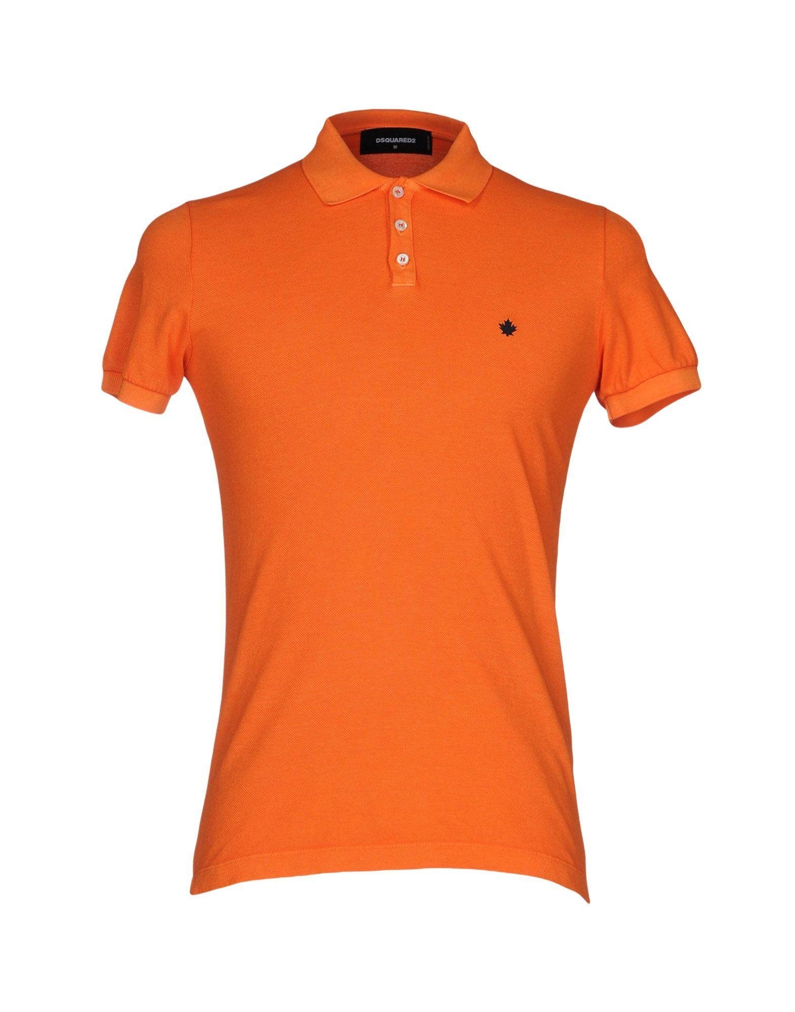 Dsquared polo shirt in orange for men lyst for Orange polo shirt mens
