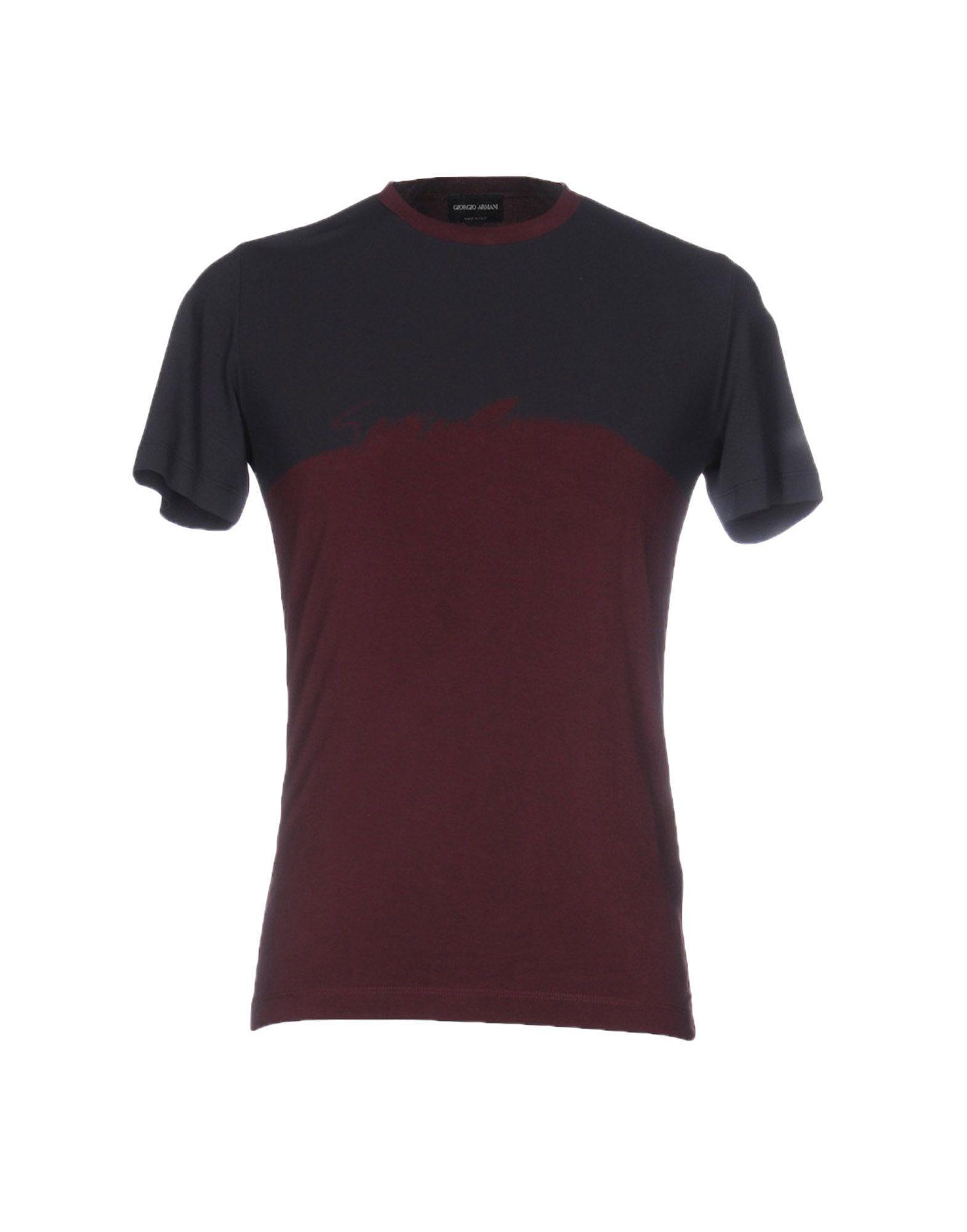 giorgio armani tshirt in purple for men lyst