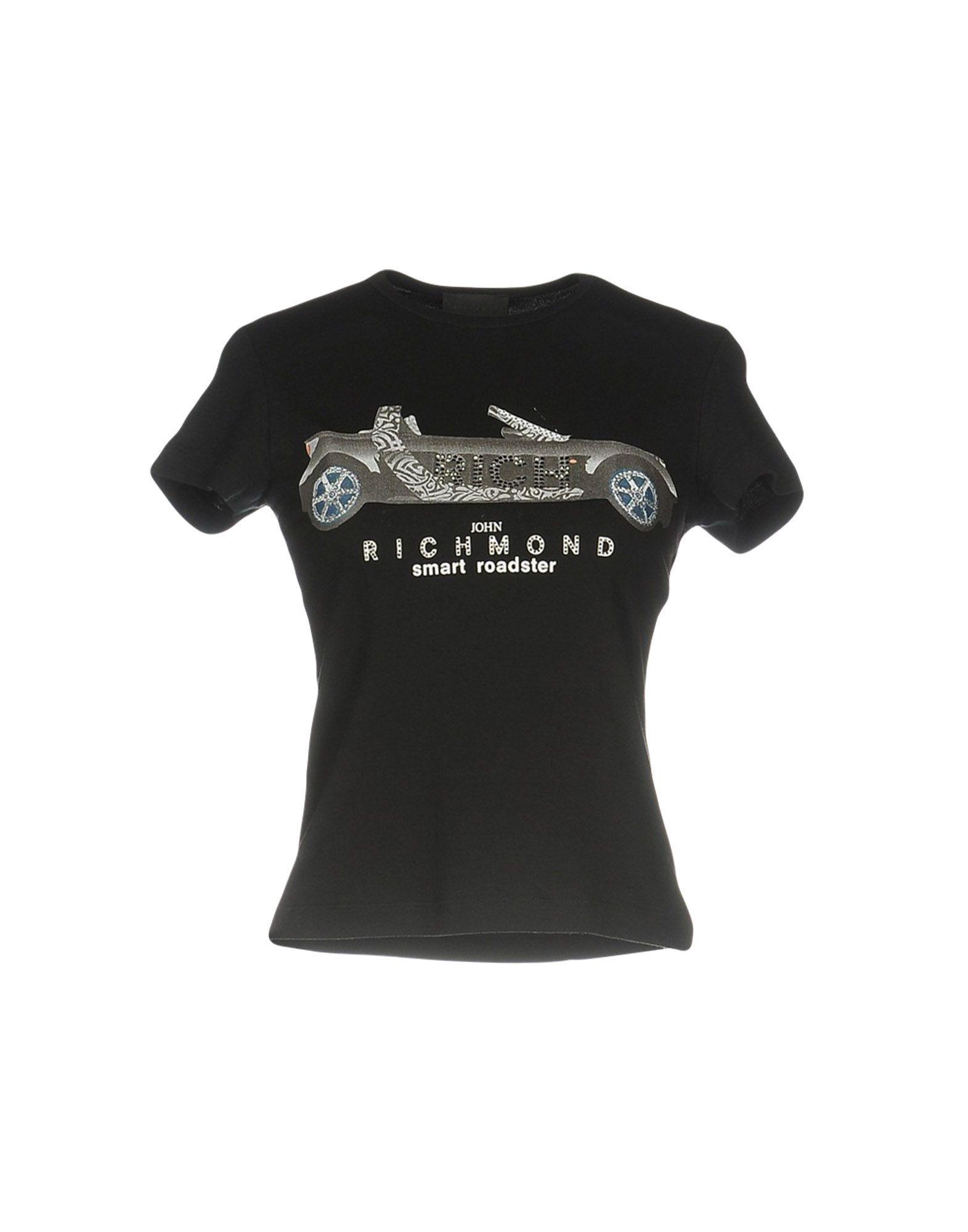 Lyst john richmond t shirt in black for T shirt printing richmond va