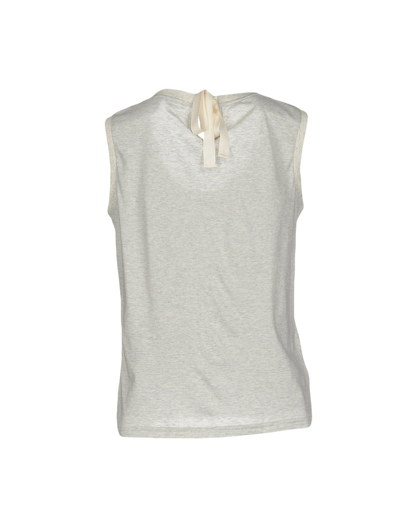 Miu miu t shirt in gray lyst for Miu miu t shirt