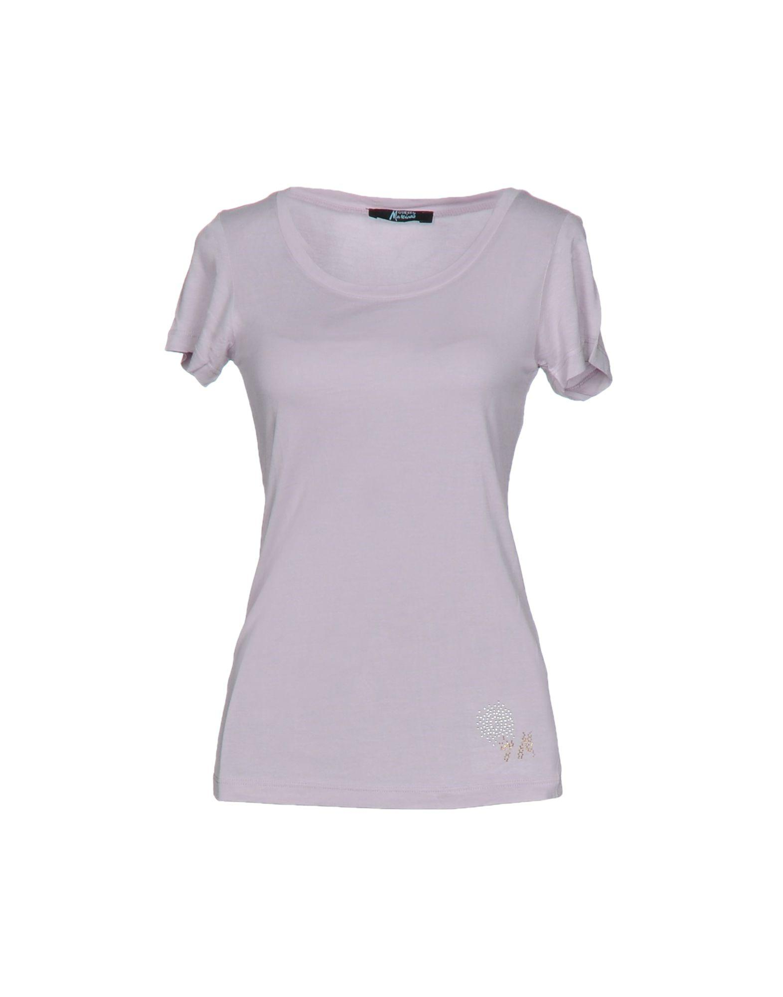 lyst guess t shirt in purple. Black Bedroom Furniture Sets. Home Design Ideas