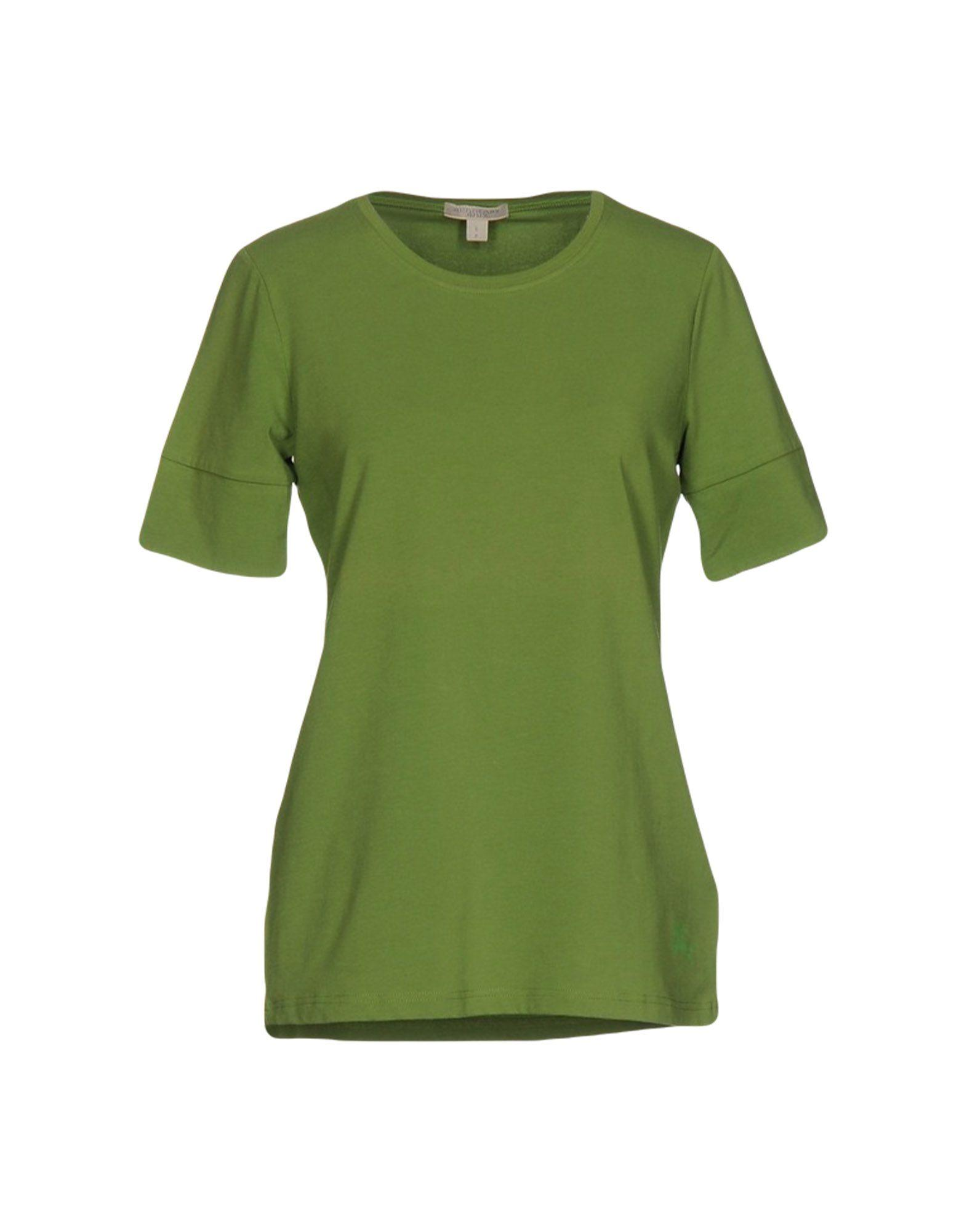 Burberry brit t shirt in green lyst for Burberry brit green plaid shirt