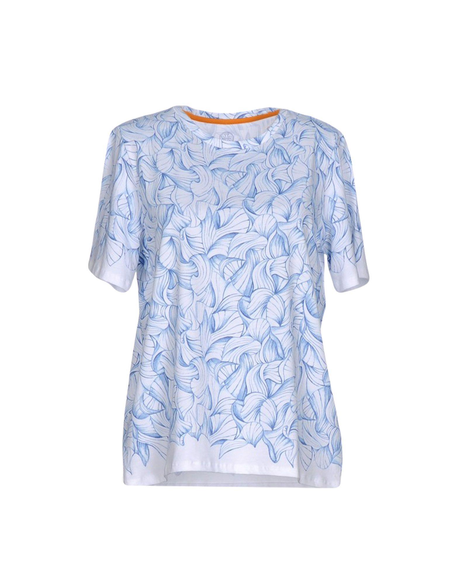 Tory burch t shirt in blue lyst for Tory burch t shirt