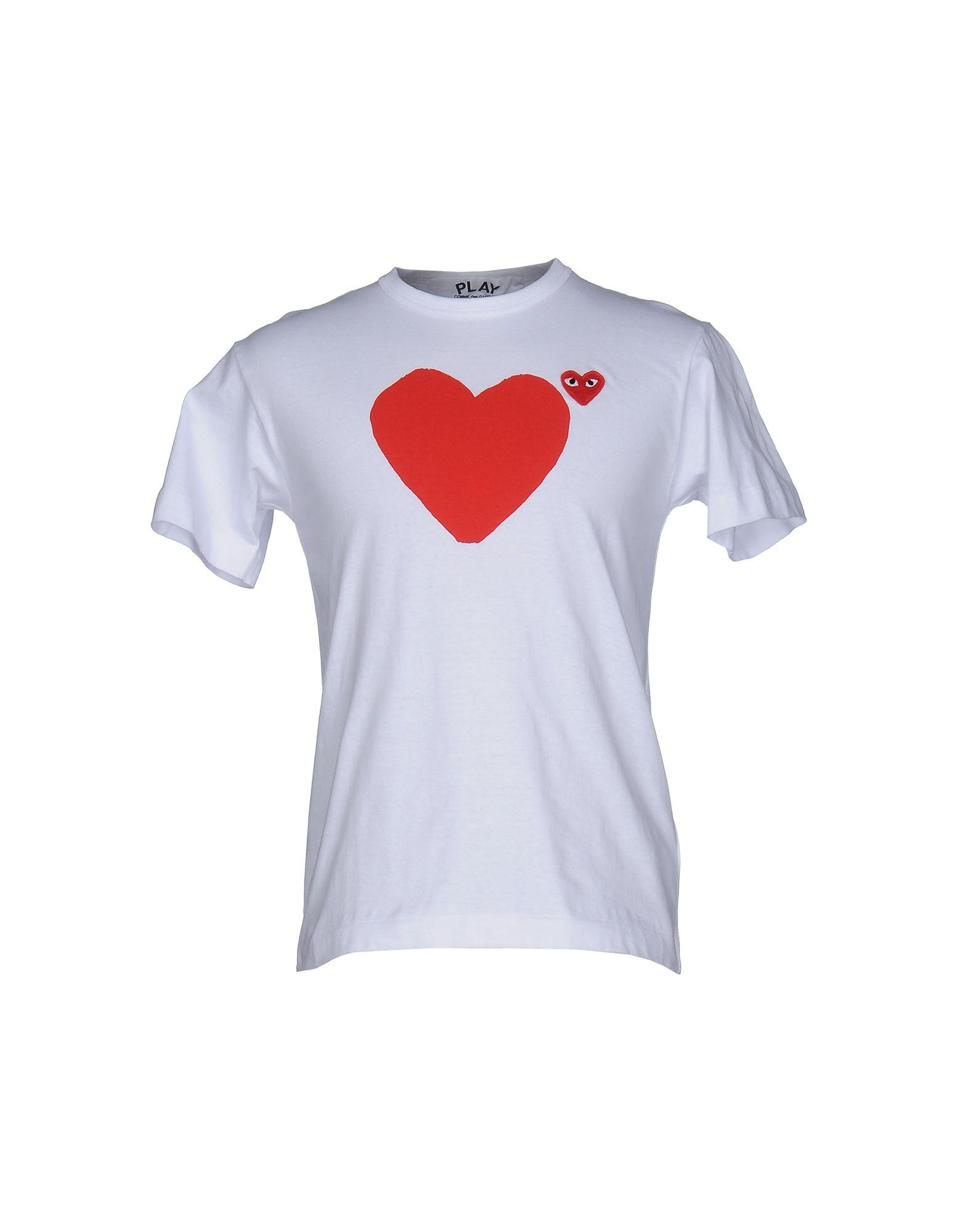 Play Comme Des Gar Ons T Shirt In White For Men Lyst