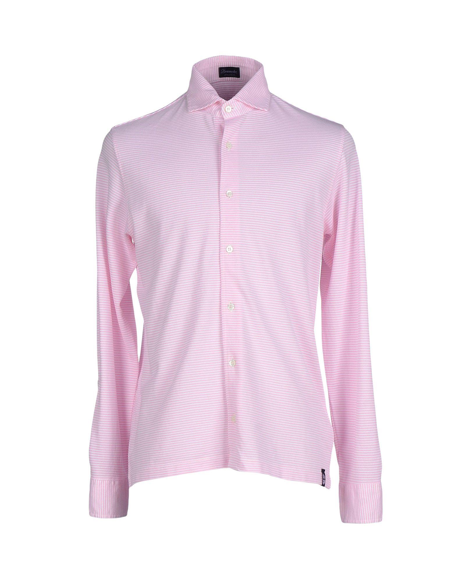 Lyst drumohr shirt in pink for men for Mens pink shirts uk