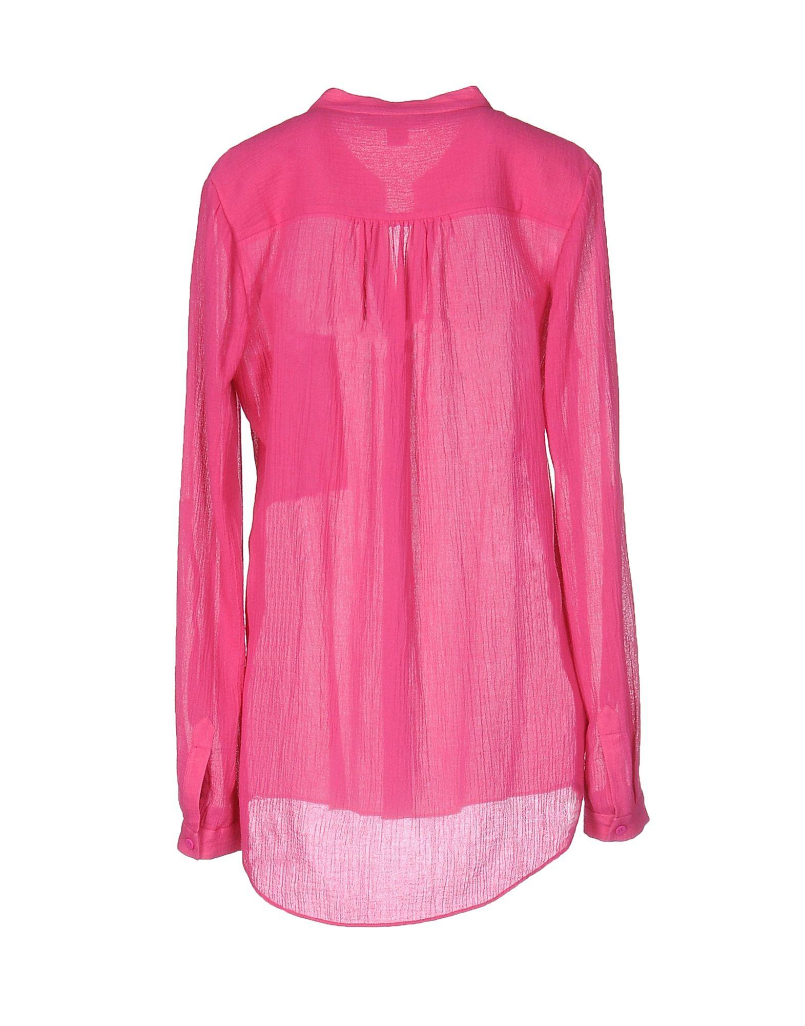 Lyst diane von furstenberg shirt in pink for Diane von furstenberg shirt