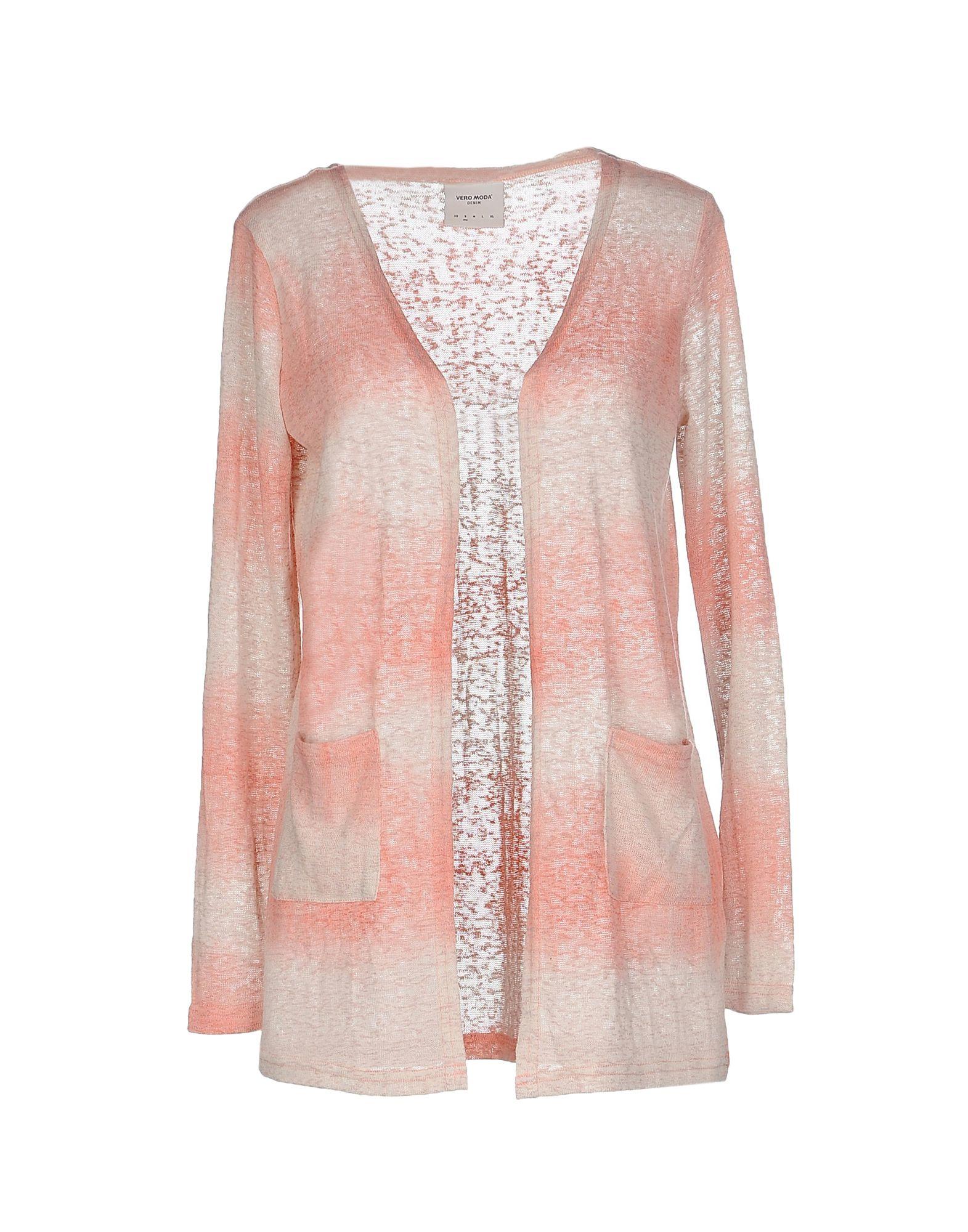 Vero Moda Knitting Patterns : Vero moda cardigan in pink save lyst