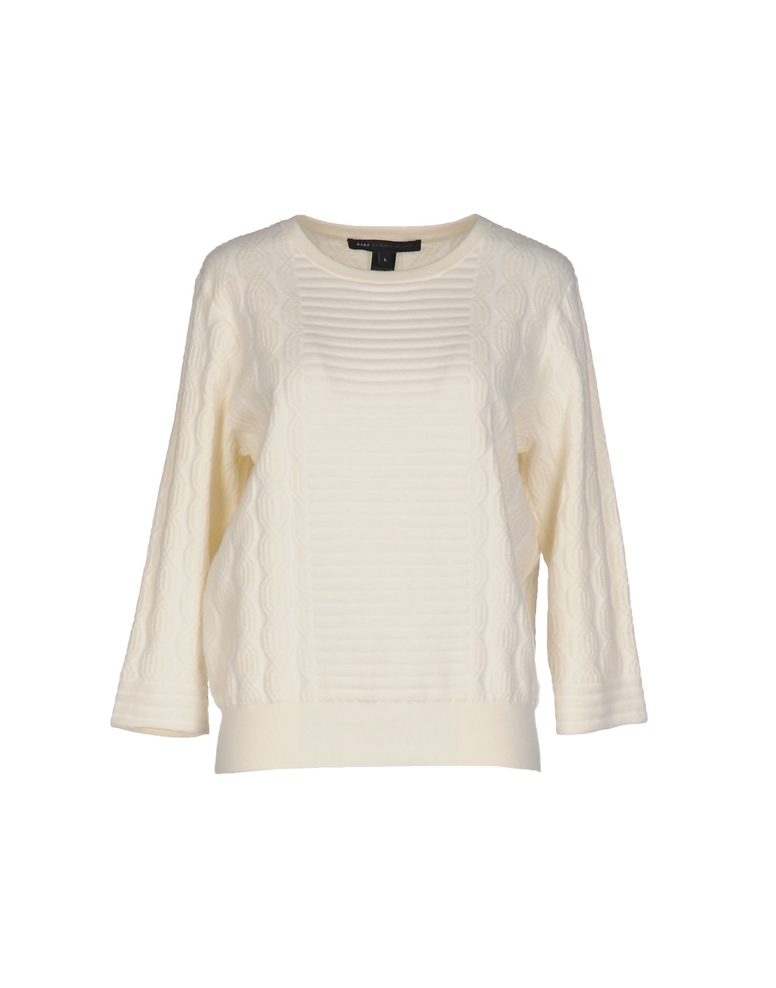 marc by marc jacobs sweater in white lyst. Black Bedroom Furniture Sets. Home Design Ideas