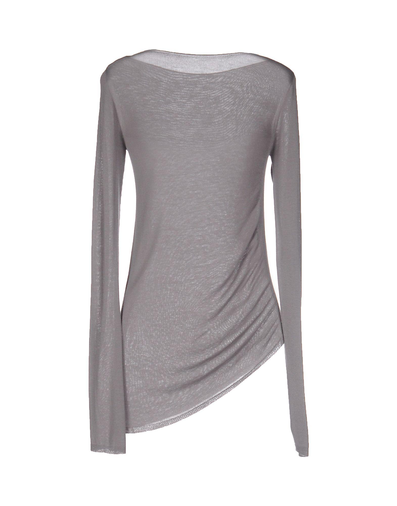 emporio armani sweater in gray lyst. Black Bedroom Furniture Sets. Home Design Ideas