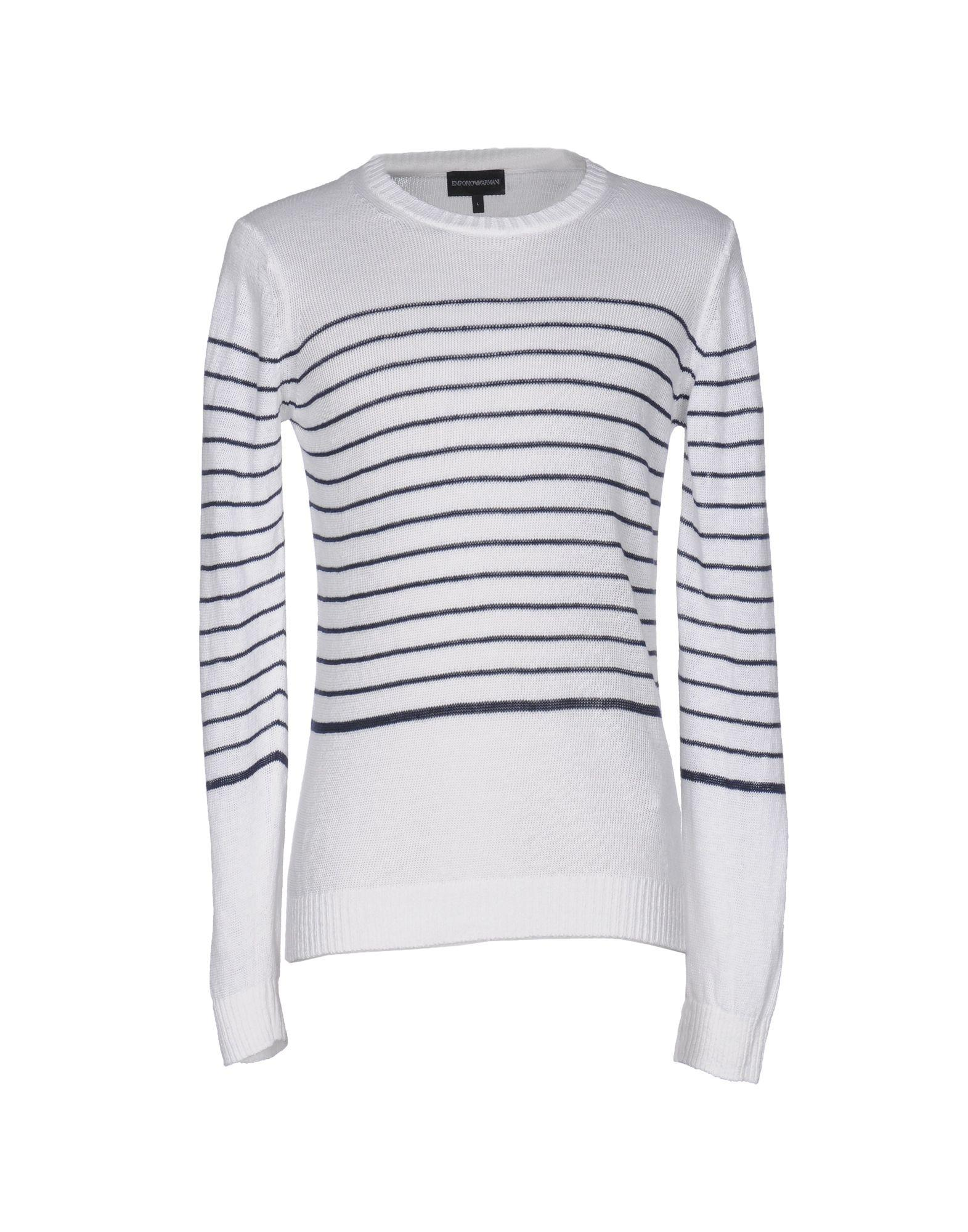 emporio armani sweater in white for men lyst. Black Bedroom Furniture Sets. Home Design Ideas