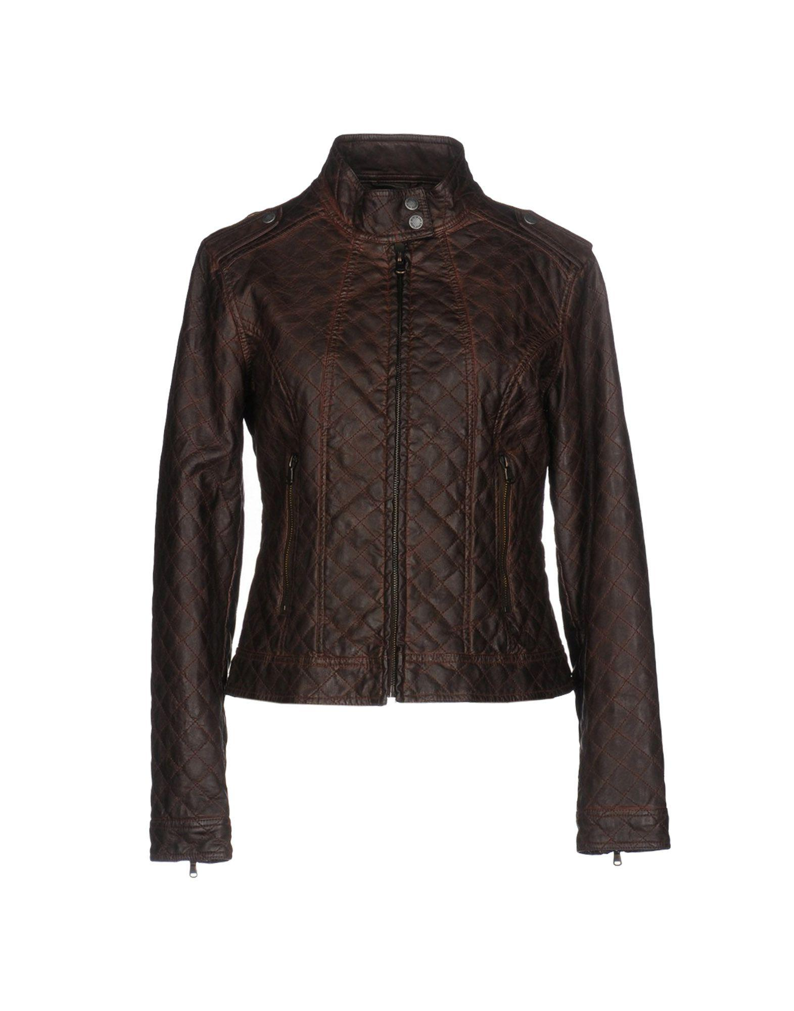 pepe jeans jacket in brown lyst. Black Bedroom Furniture Sets. Home Design Ideas