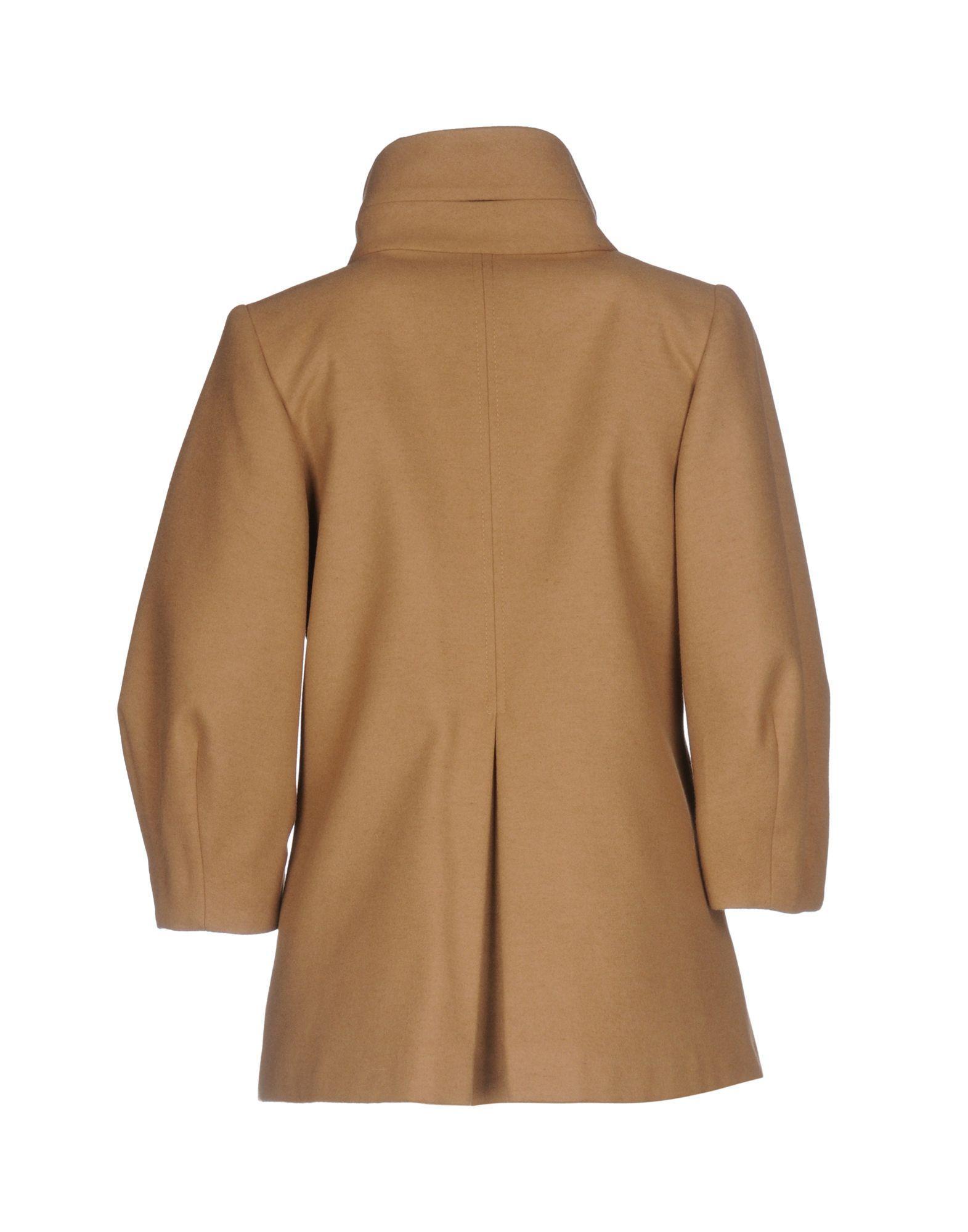 lyst boutique de la femme coat in brown. Black Bedroom Furniture Sets. Home Design Ideas