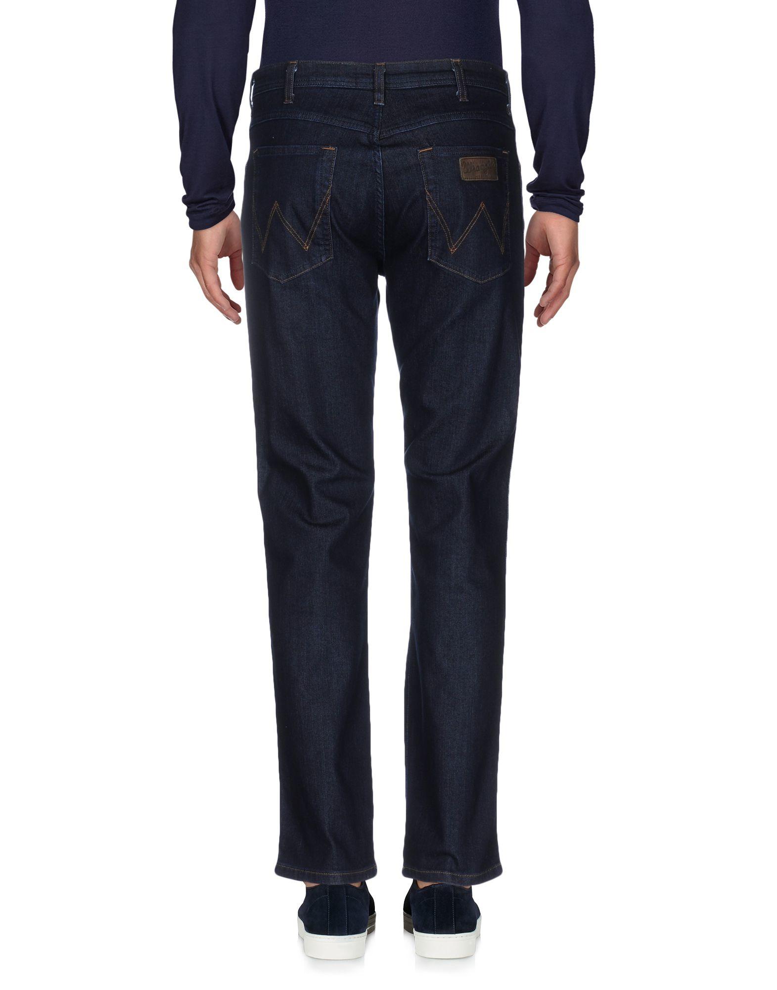 Lyst wrangler denim pants in black for men for Wrangler denim shirts uk