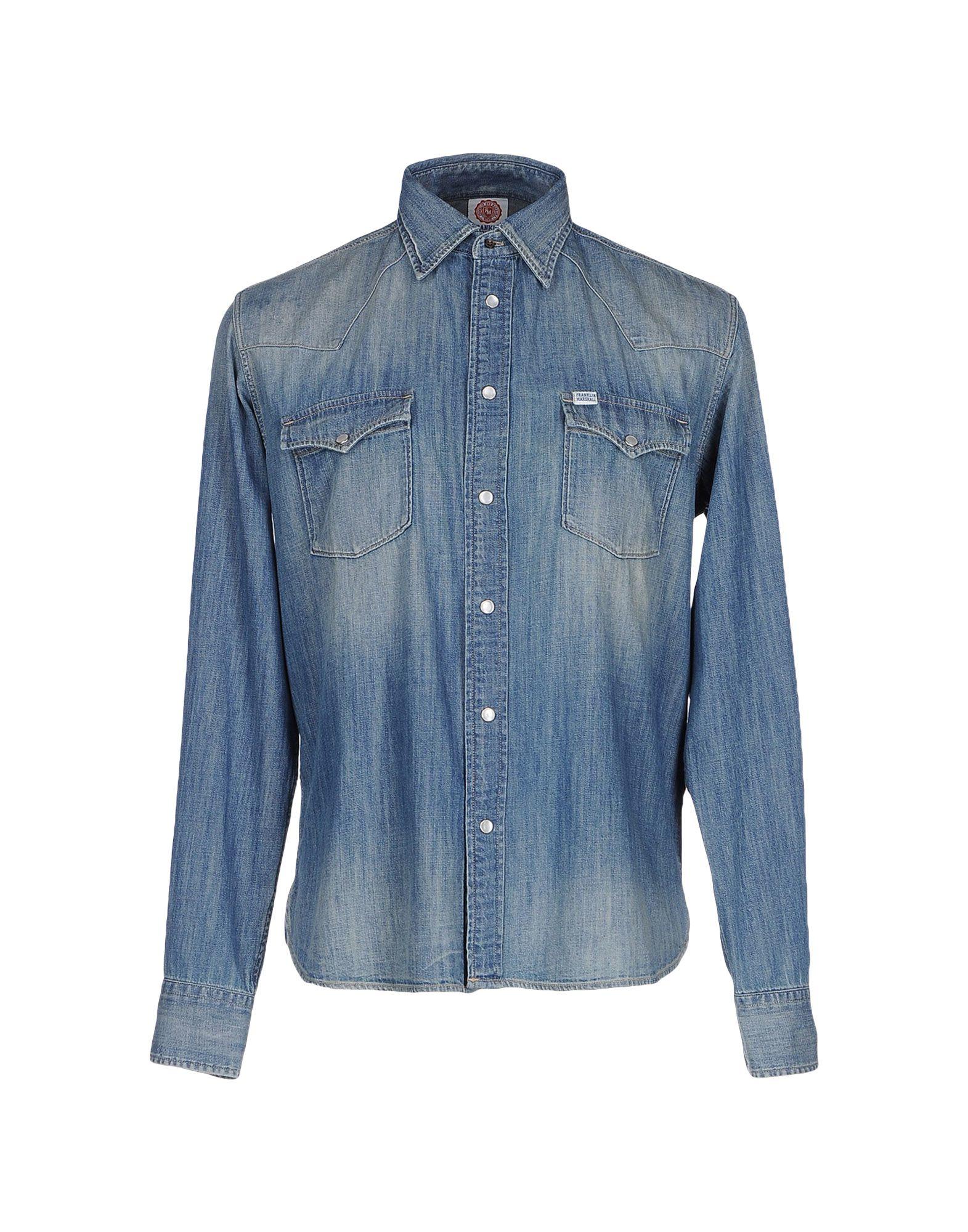 Franklin Marshall Denim Shirt In Blue For Men Lyst