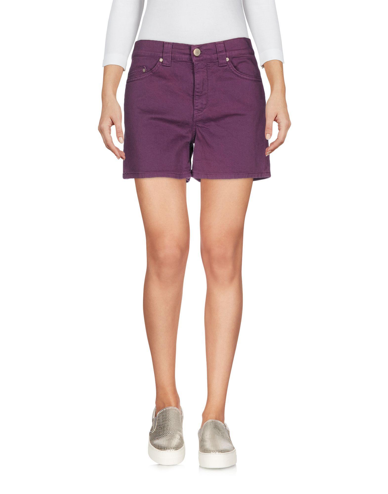 Dondup Denim Shorts in Purple | Lyst