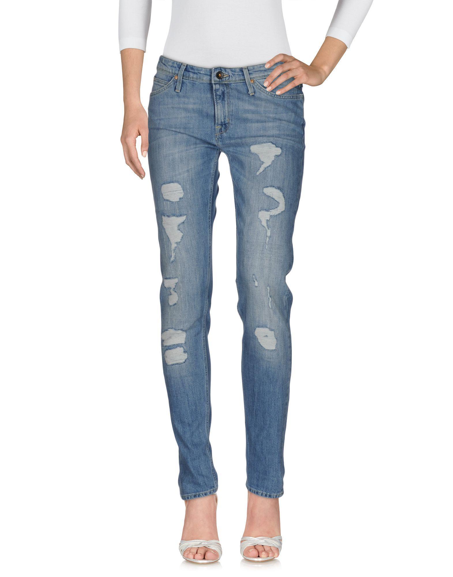 Lee Jeans Denim Trousers In Blue Lyst