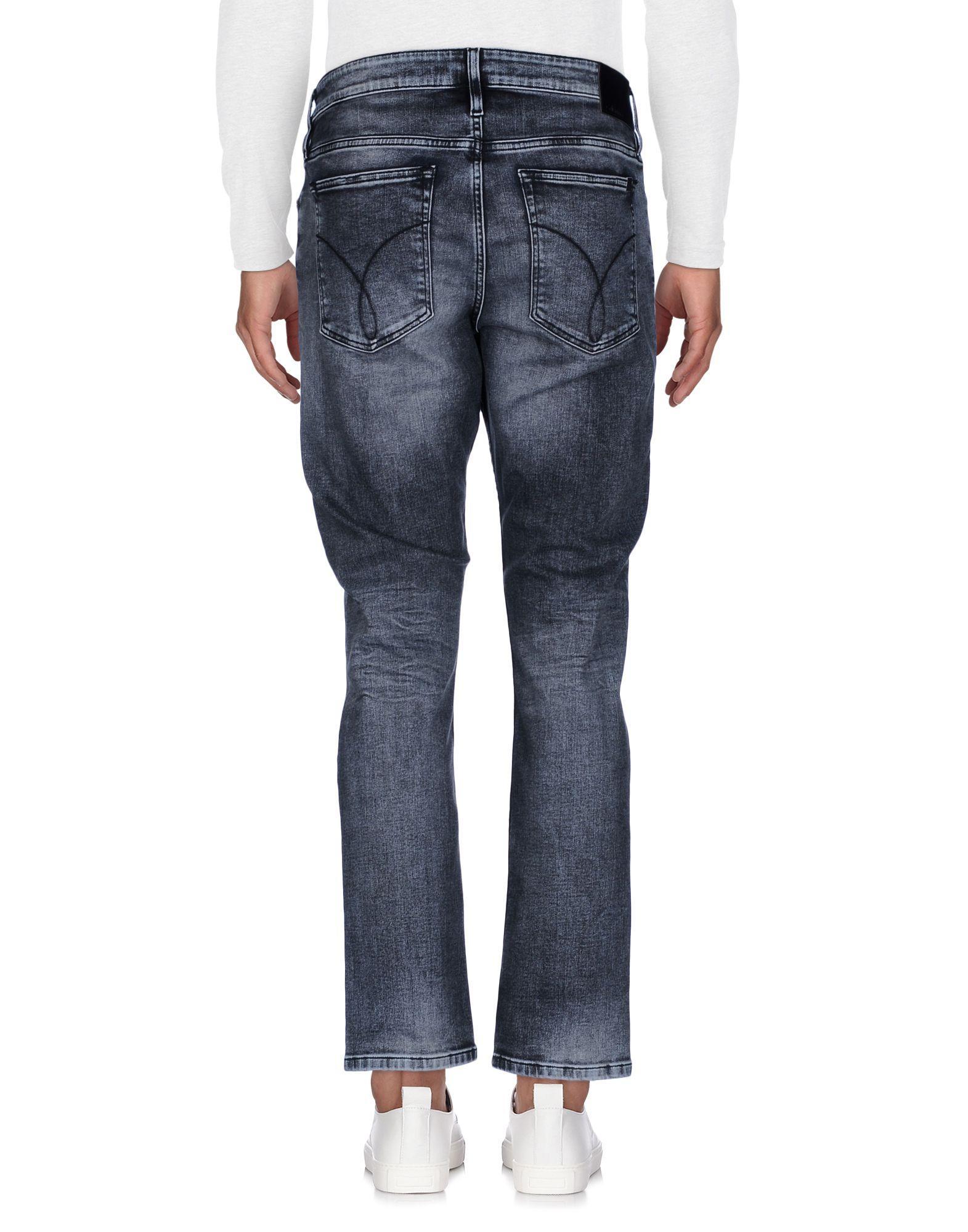 Calvin Klein Jeans Denim Pants In Black For Men Lyst