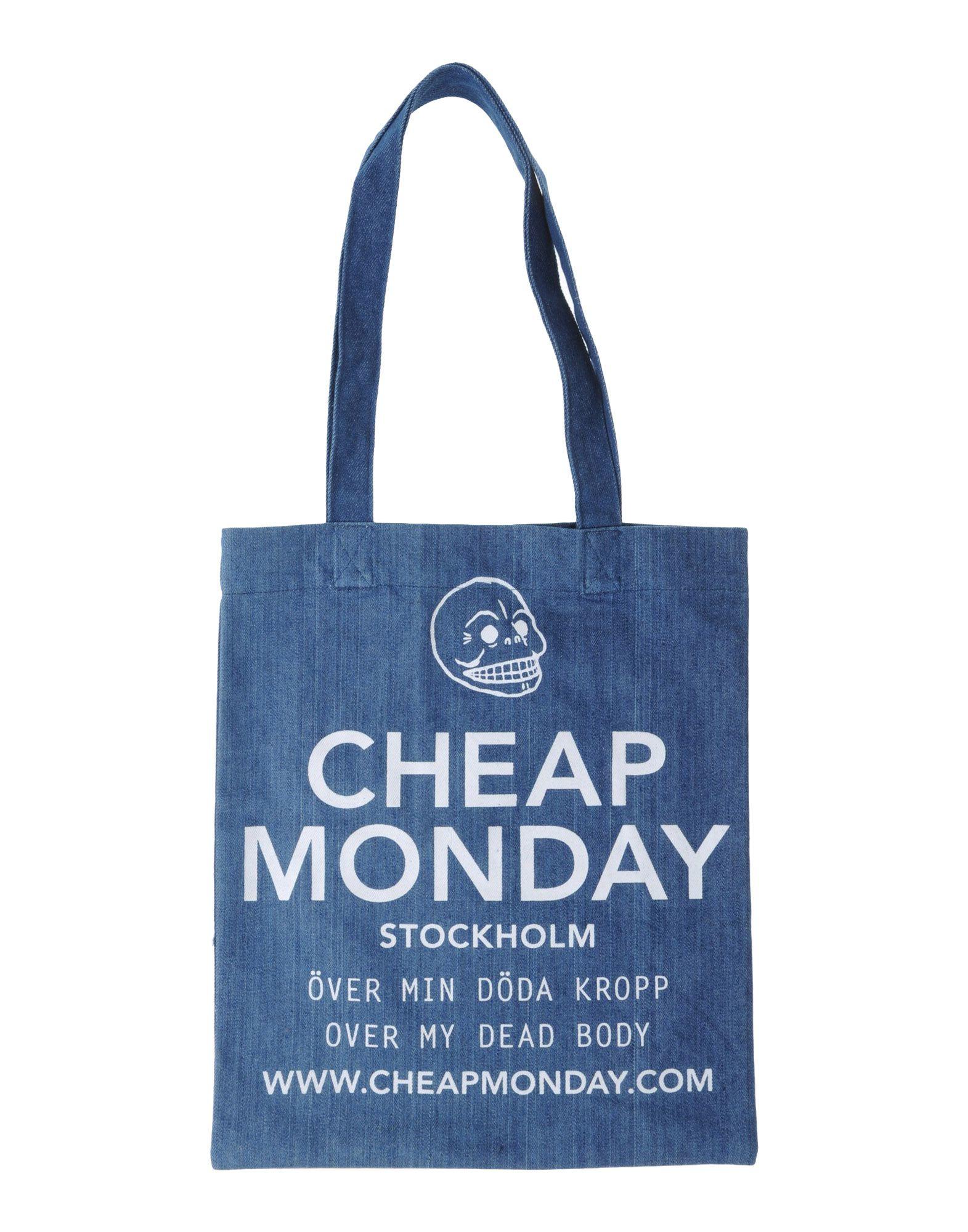 cheap monday shoulder bag in blue lyst