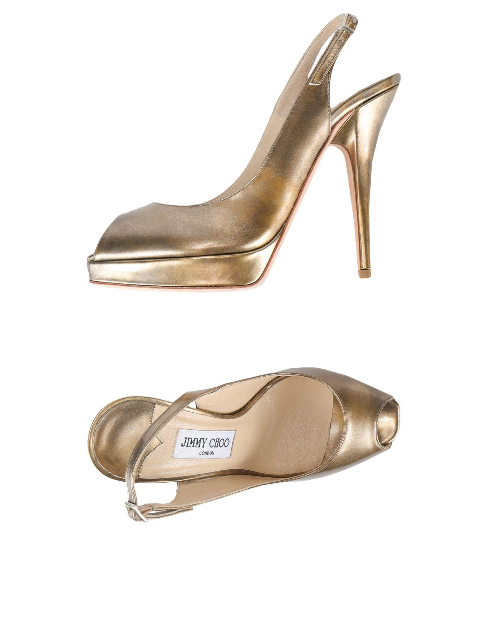 628620e8287 Lyst - Jimmy Choo Sandals in Metallic
