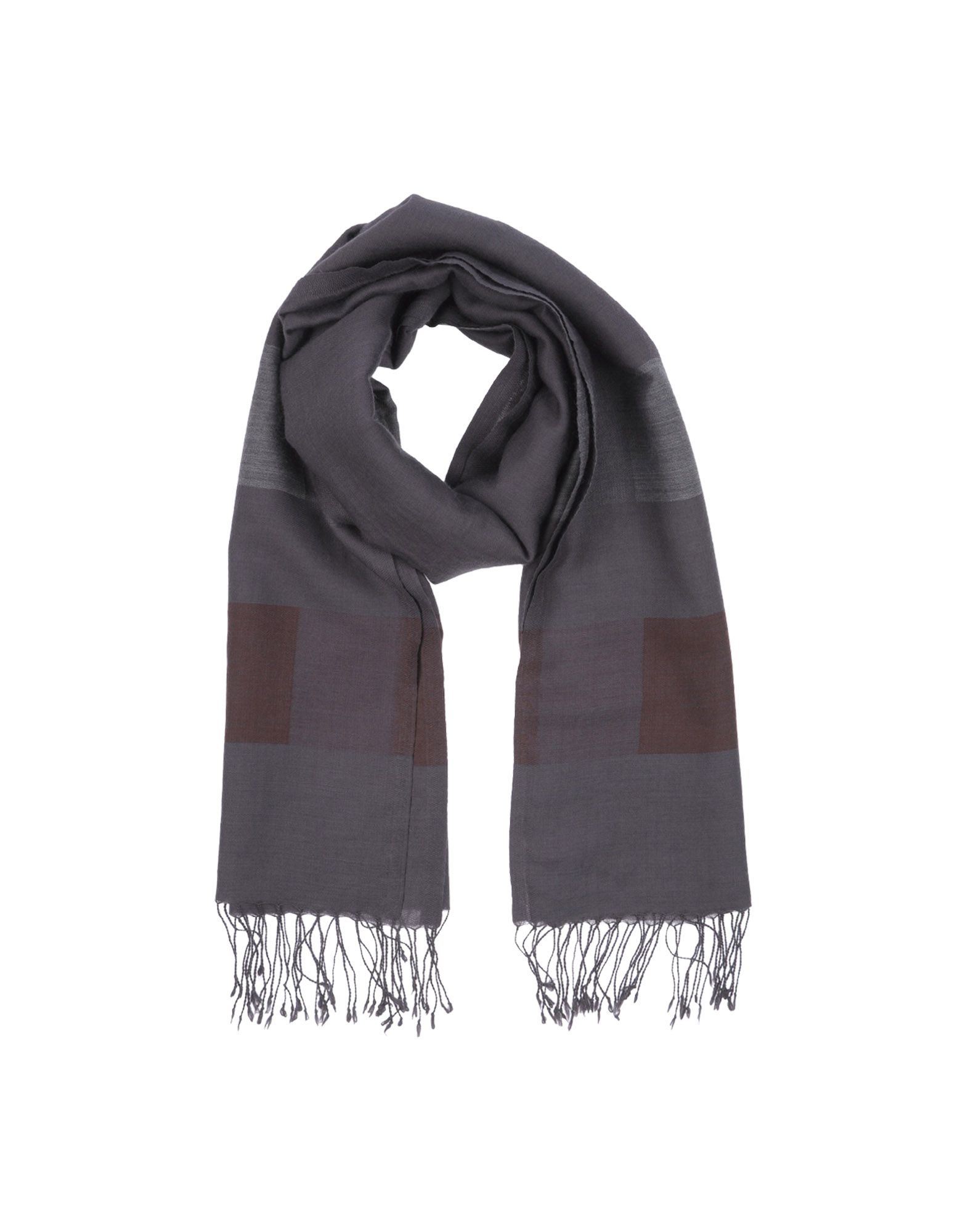 closed oblong scarf in gray for lyst