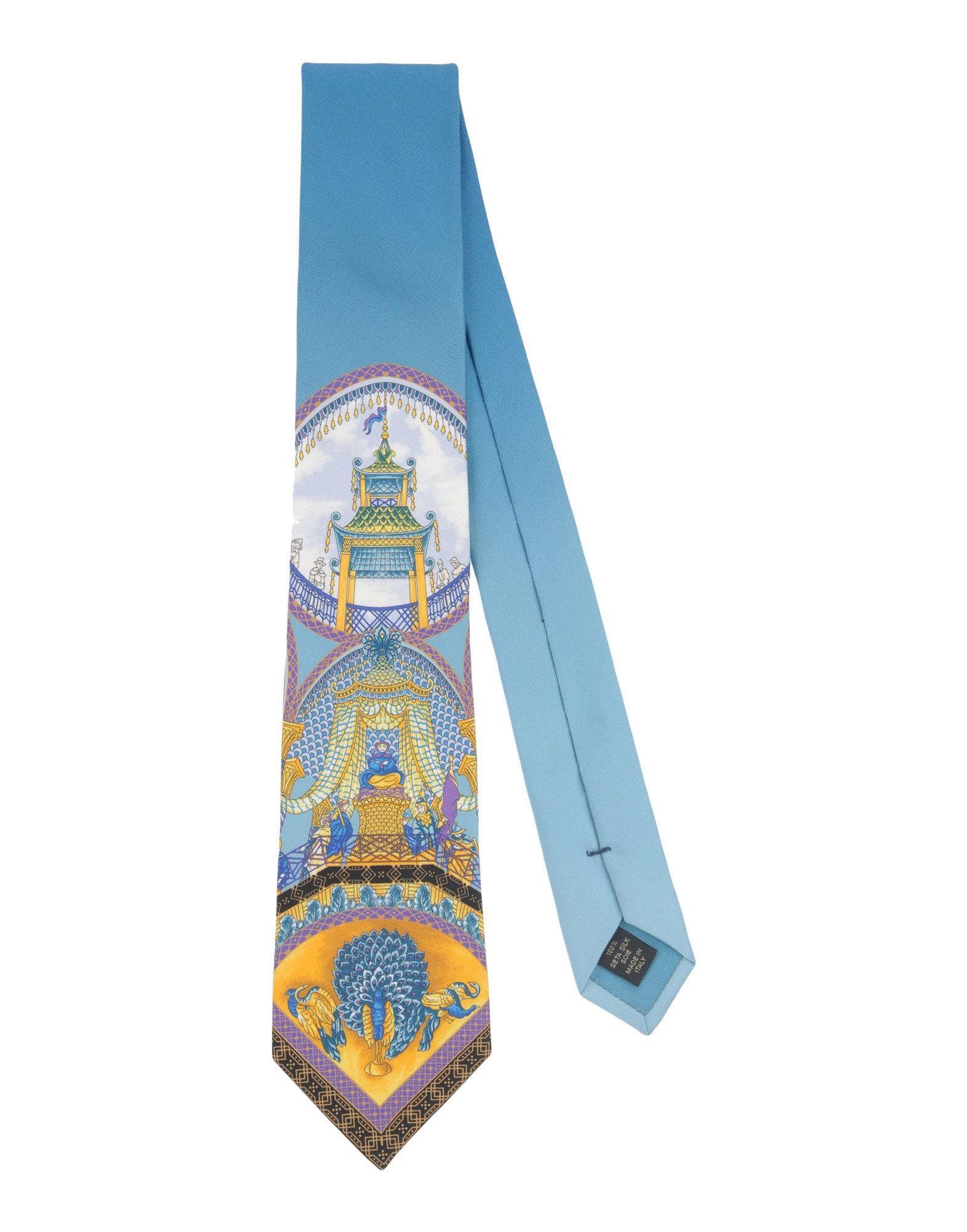 versace tie in blue for men lyst