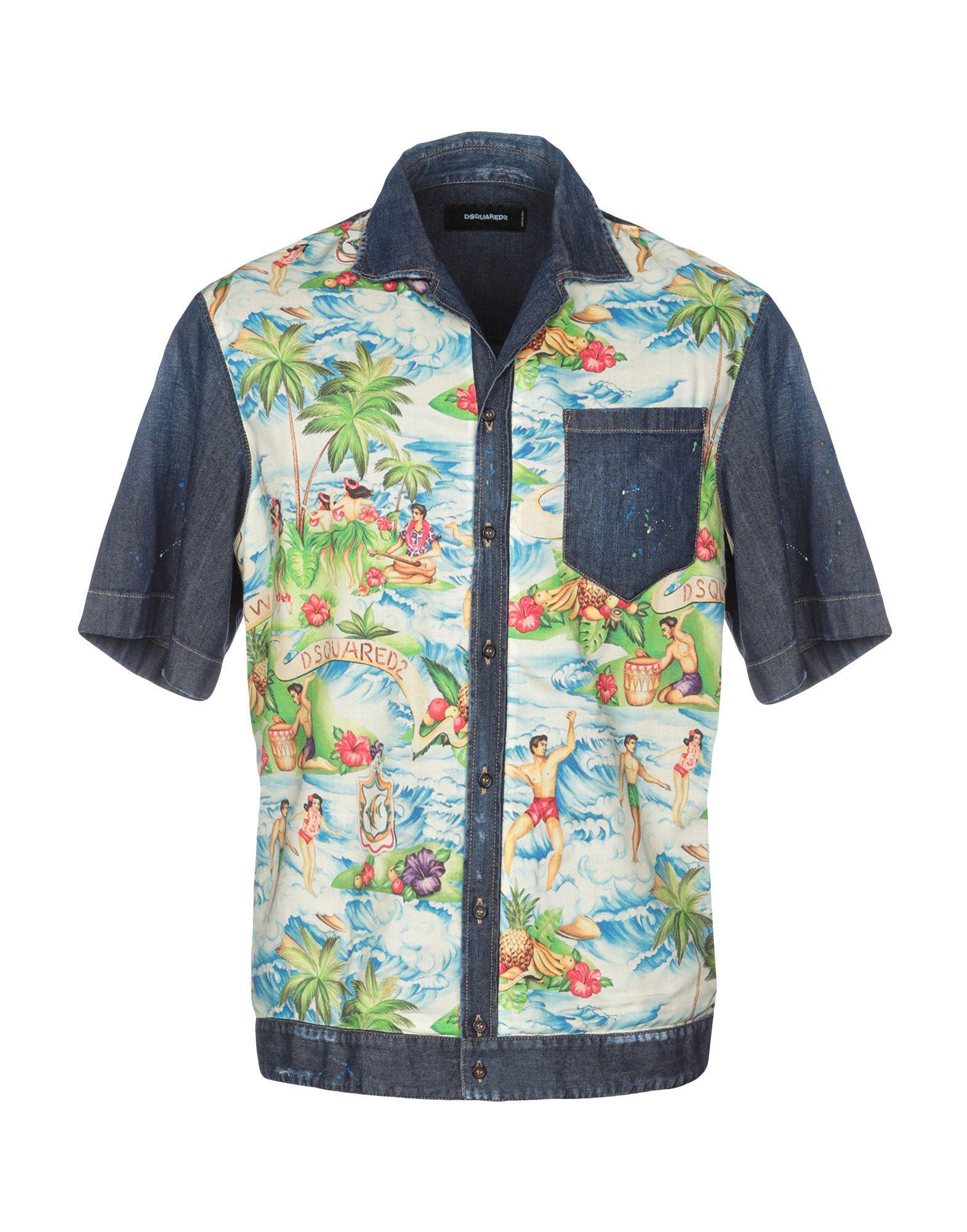 d4539336ea Lyst - DSquared² Denim Shirt in Blue for Men