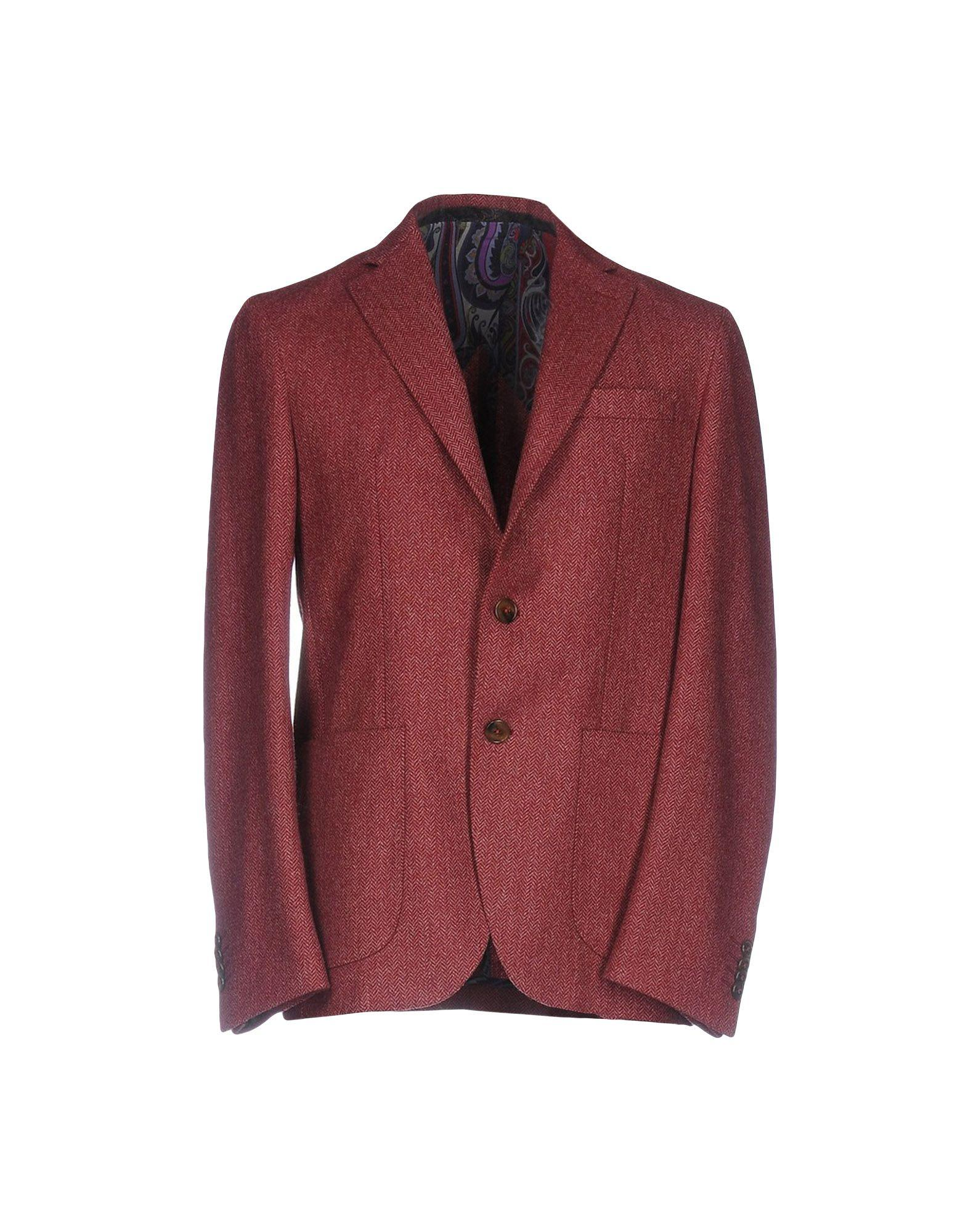 Flannel Motorcycle Jacket >> Lyst - Etro Blazer in Red for Men
