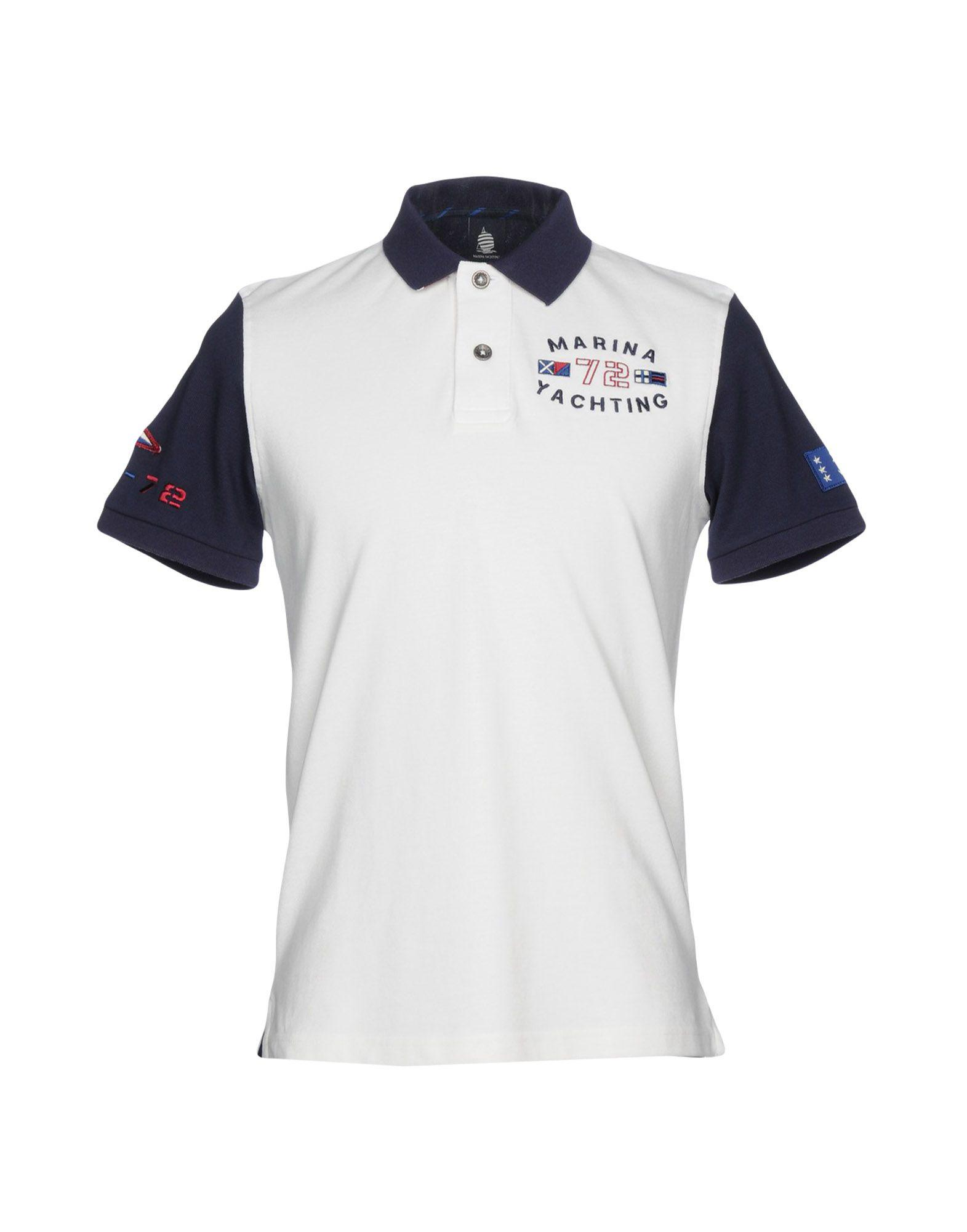 the best attitude 62f8e 1bb21 Marina Yachting Polo Shirt in White for Men - Lyst