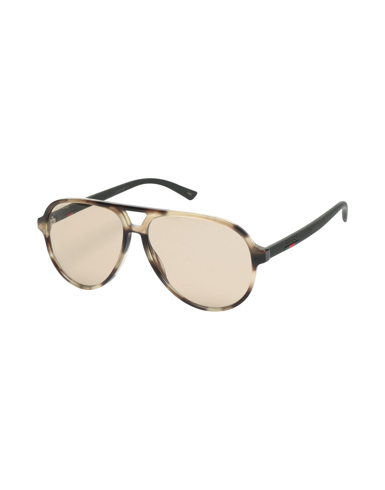 83dde98185 Gafas de sol Gucci de hombre de color Marrón - Lyst