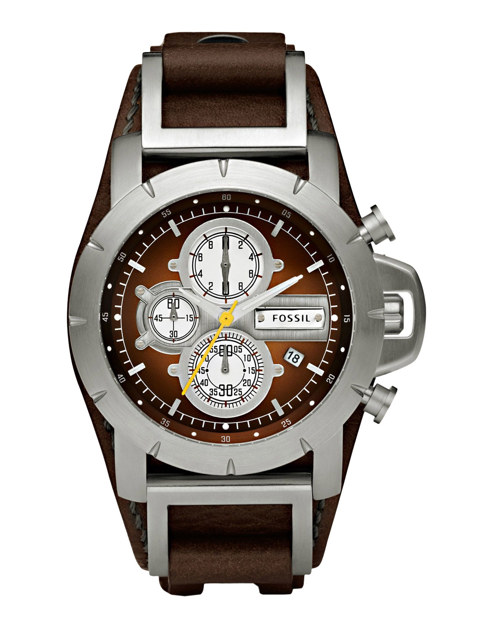lyst fossil wrist watch in brown for men. Black Bedroom Furniture Sets. Home Design Ideas