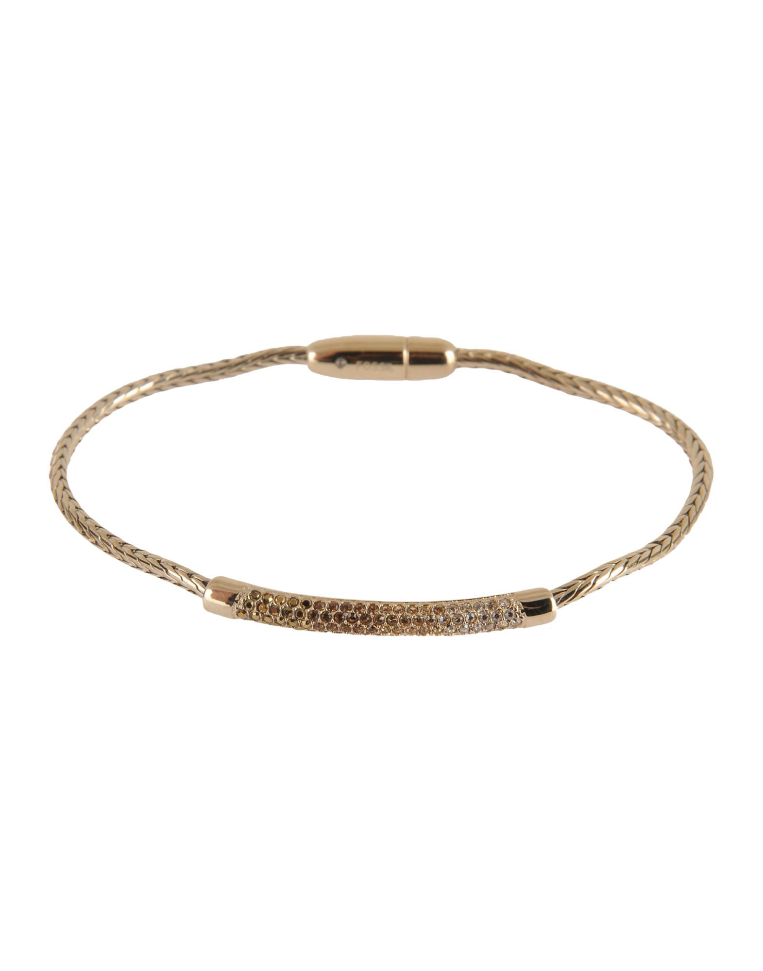 fossil bracelet in metallic lyst