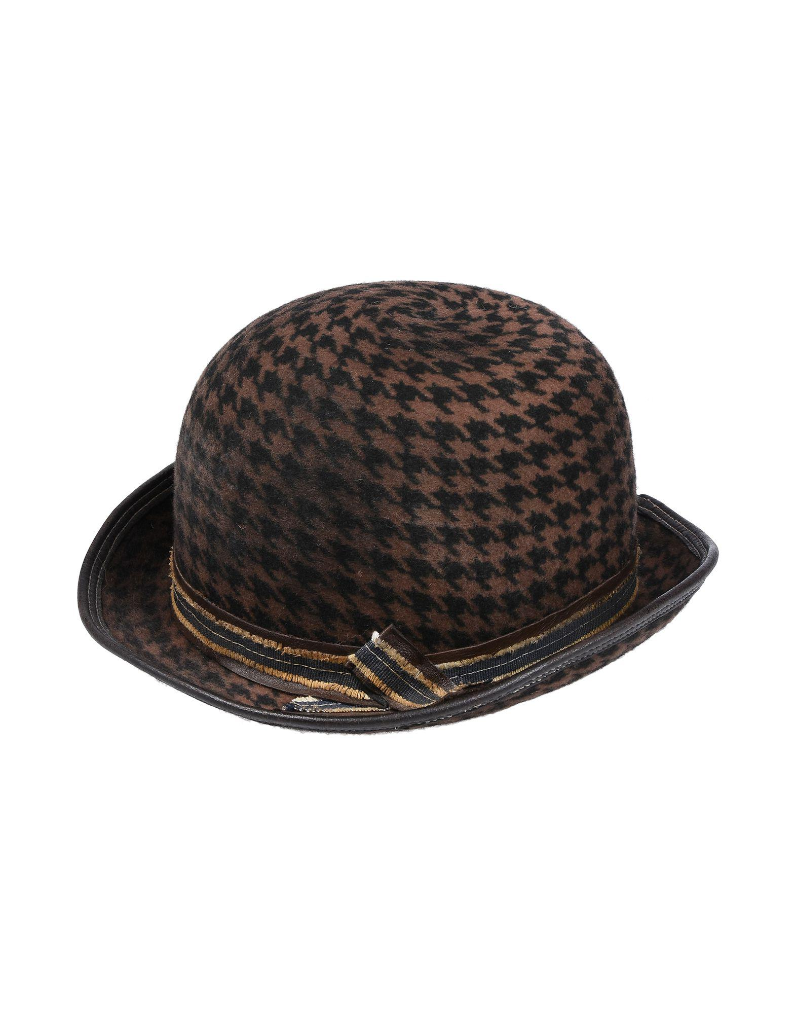Lyst - Move Officine Del Cappello Hat in Brown e85c1bb18ef7