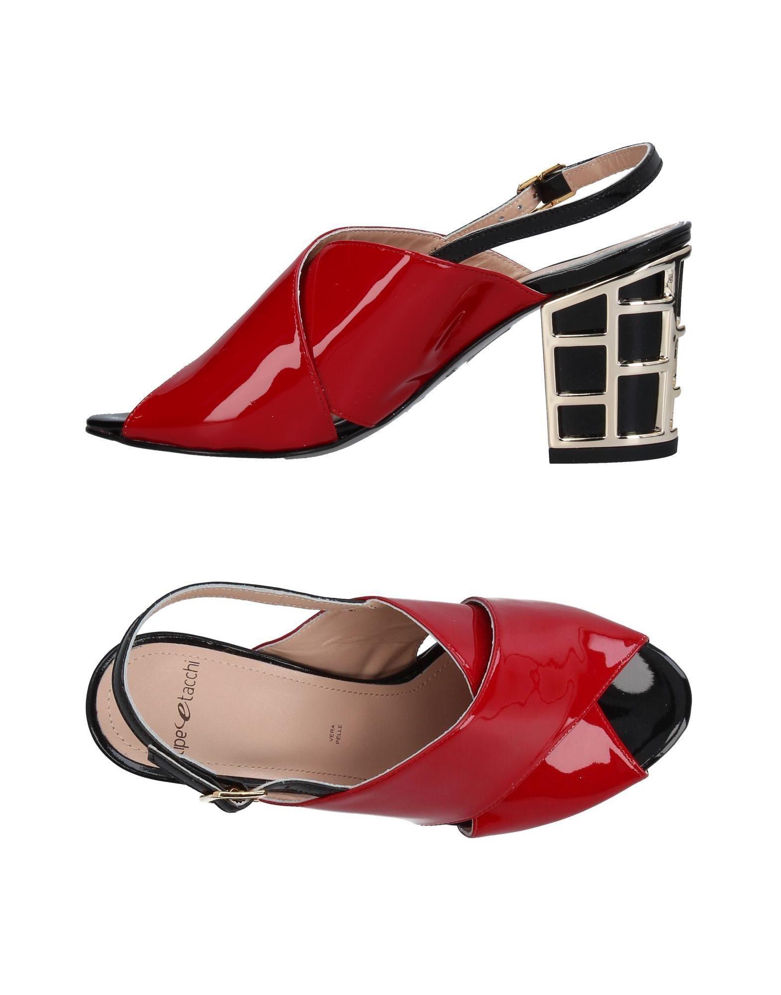 TIPE E TACCHI Sandals Red Women