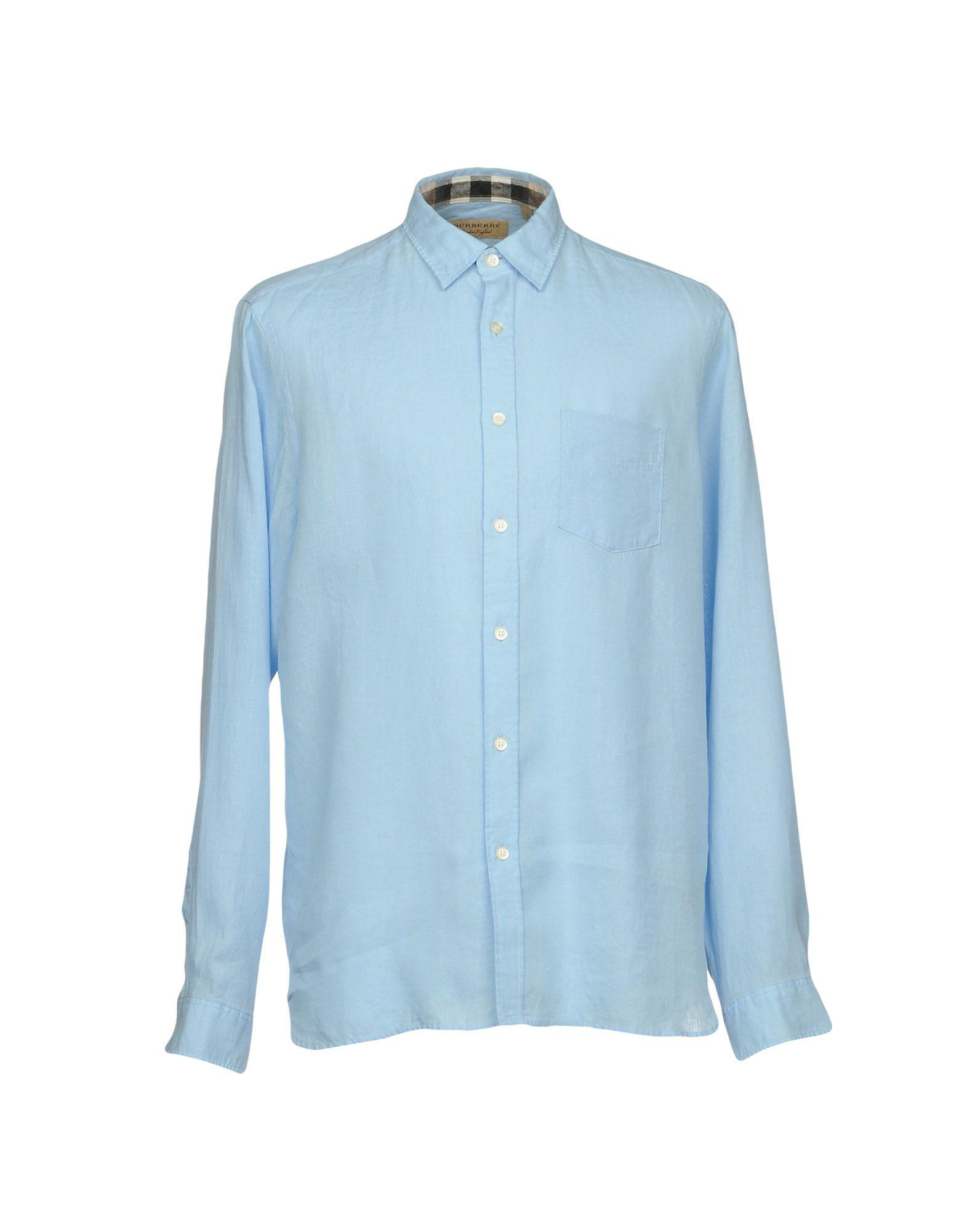 Lyst - Chemise Burberry pour homme en coloris Bleu 3bdf1e59d46