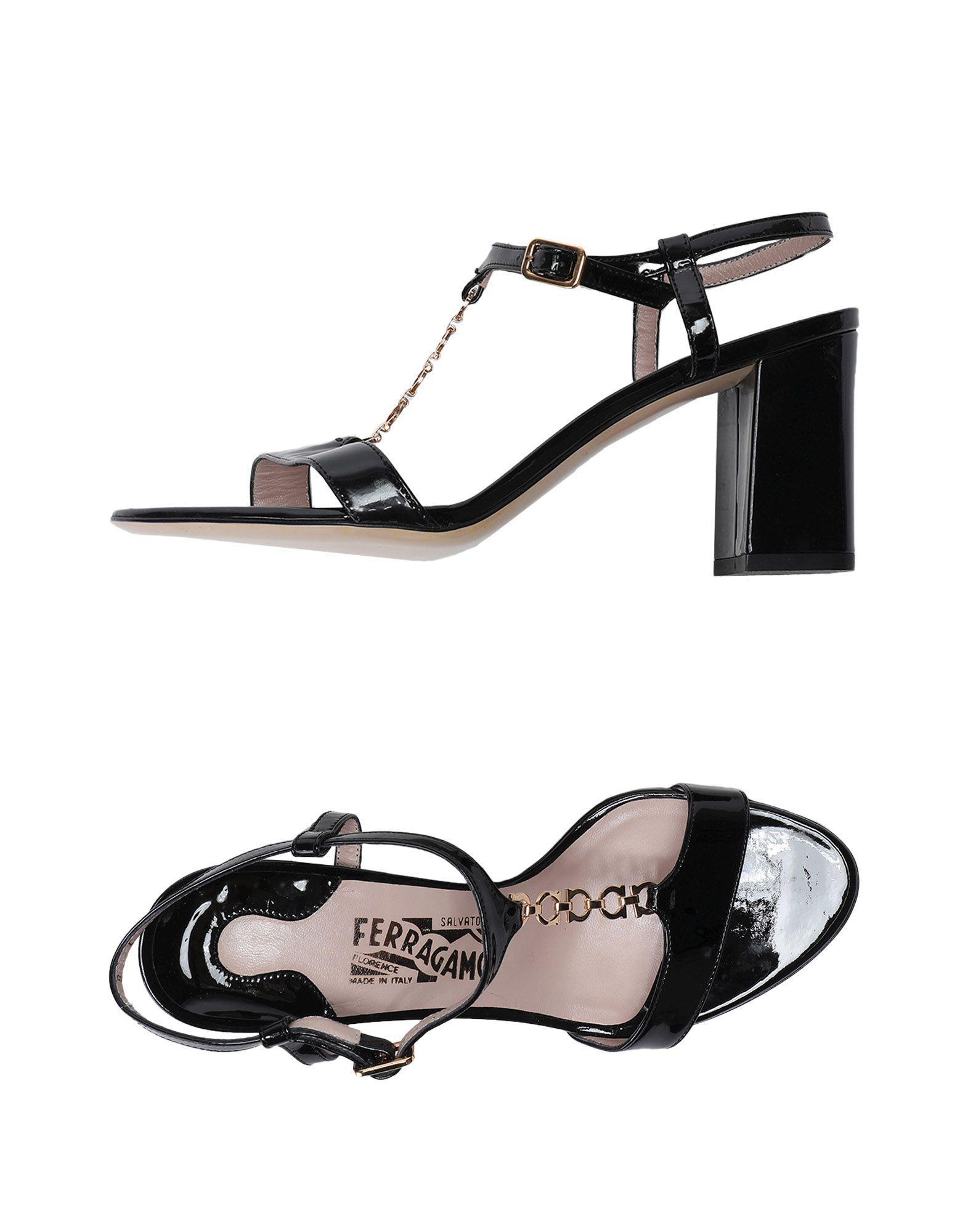 05b5325d0755 Lyst - Ferragamo Sandals in Black