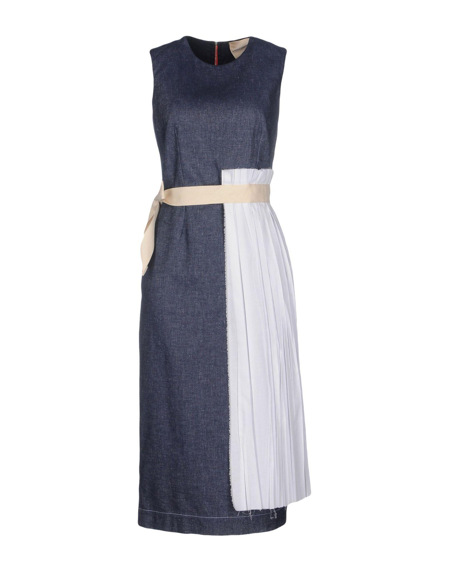 DRESSES - 3/4 length dresses Erika Cavallini Semi Couture Buy Cheap Affordable Buy Cheap View Free Shipping Cheap Online 2018 New fjUep6Urro
