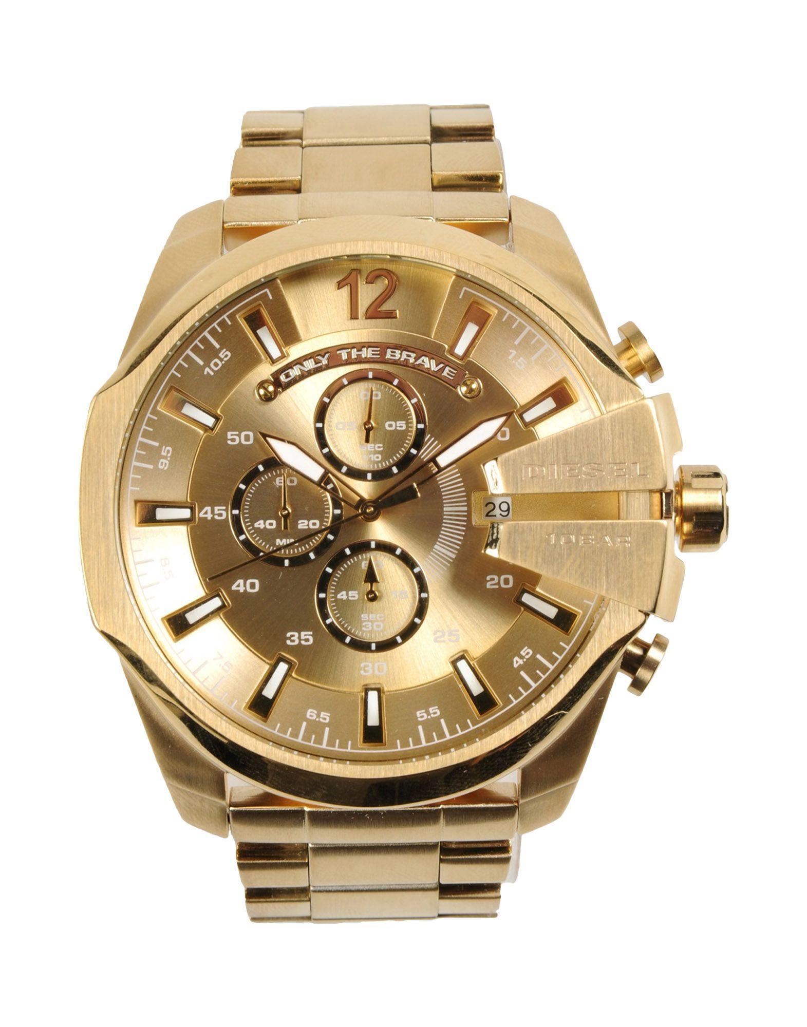 diesel wrist watch in metallic for men lyst diesel metallic wrist watch for men lyst view fullscreen
