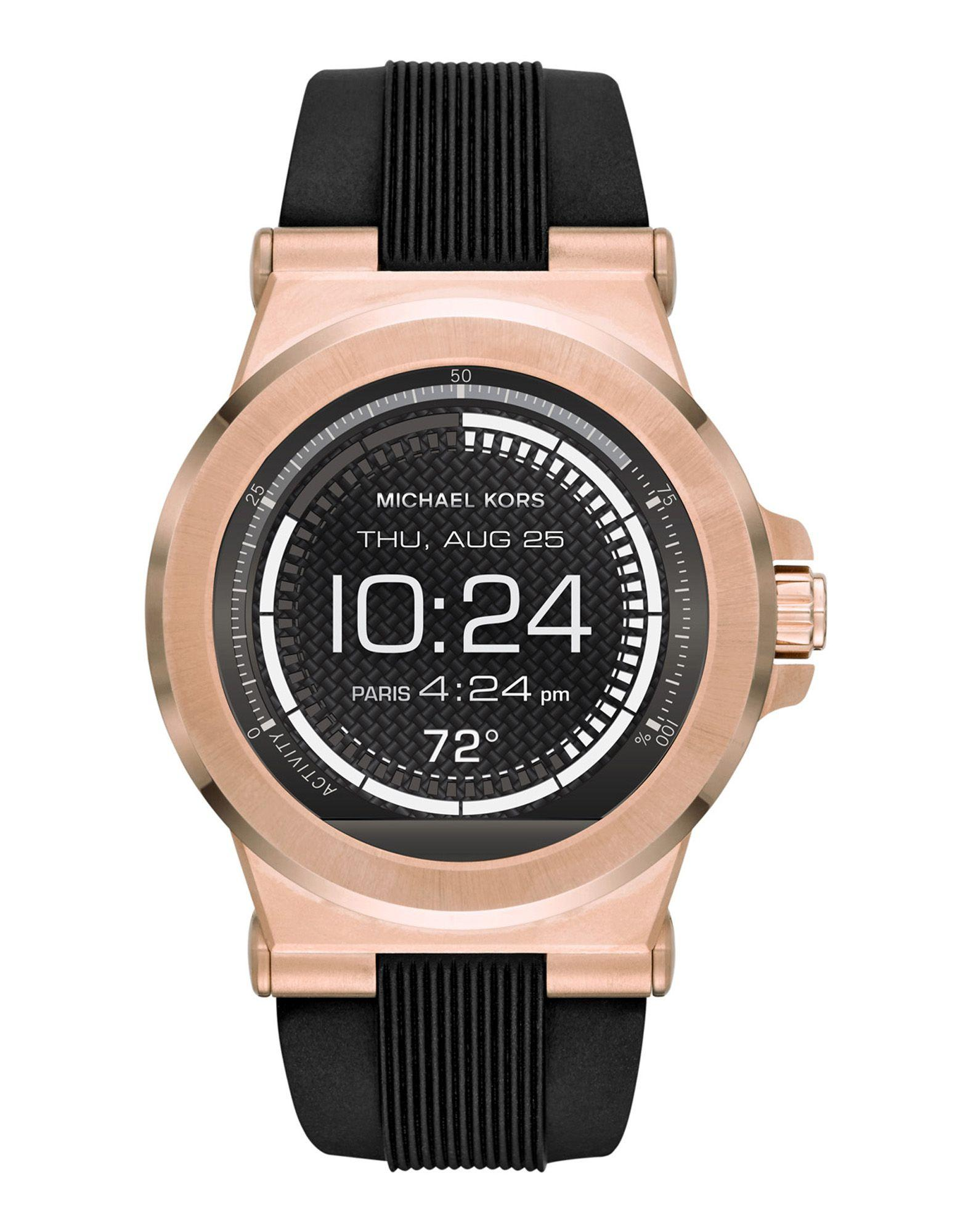 lyst michael kors mk access dylan goldtone smartwatch in. Black Bedroom Furniture Sets. Home Design Ideas