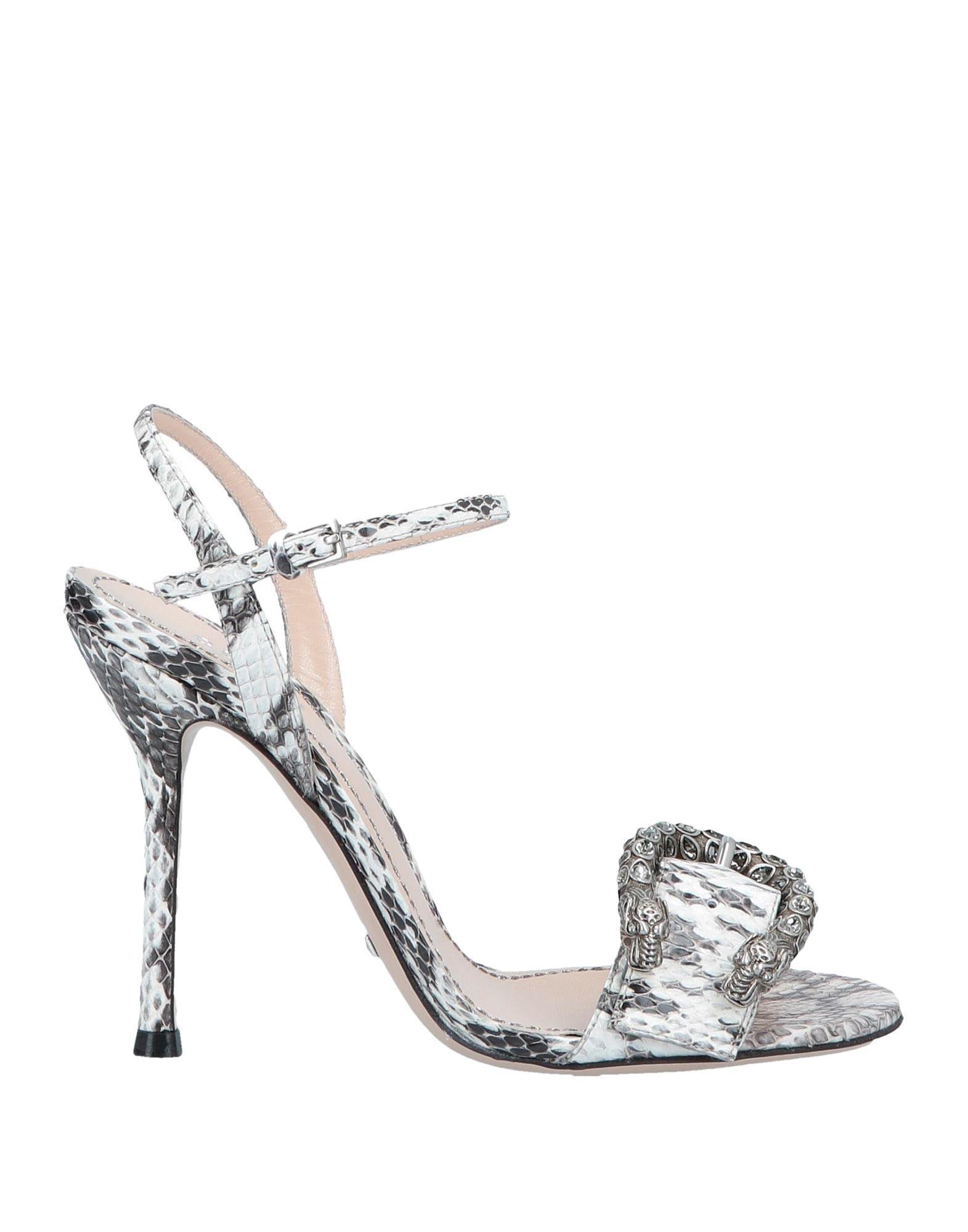 af370d44e28 Lyst - Gucci Sandals in White