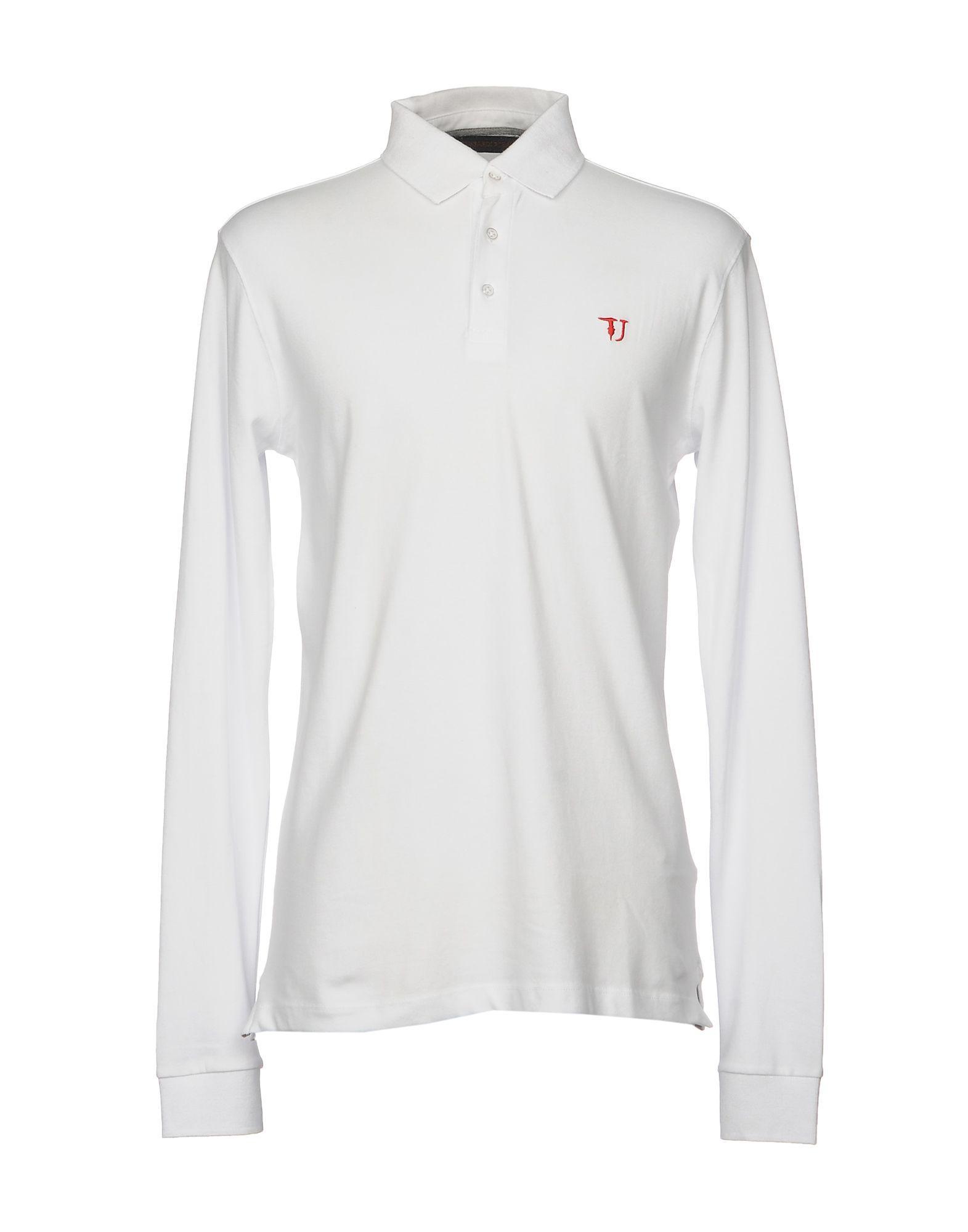 61d82e5e4db5 Lyst - Trussardi Polo Shirt in White for Men