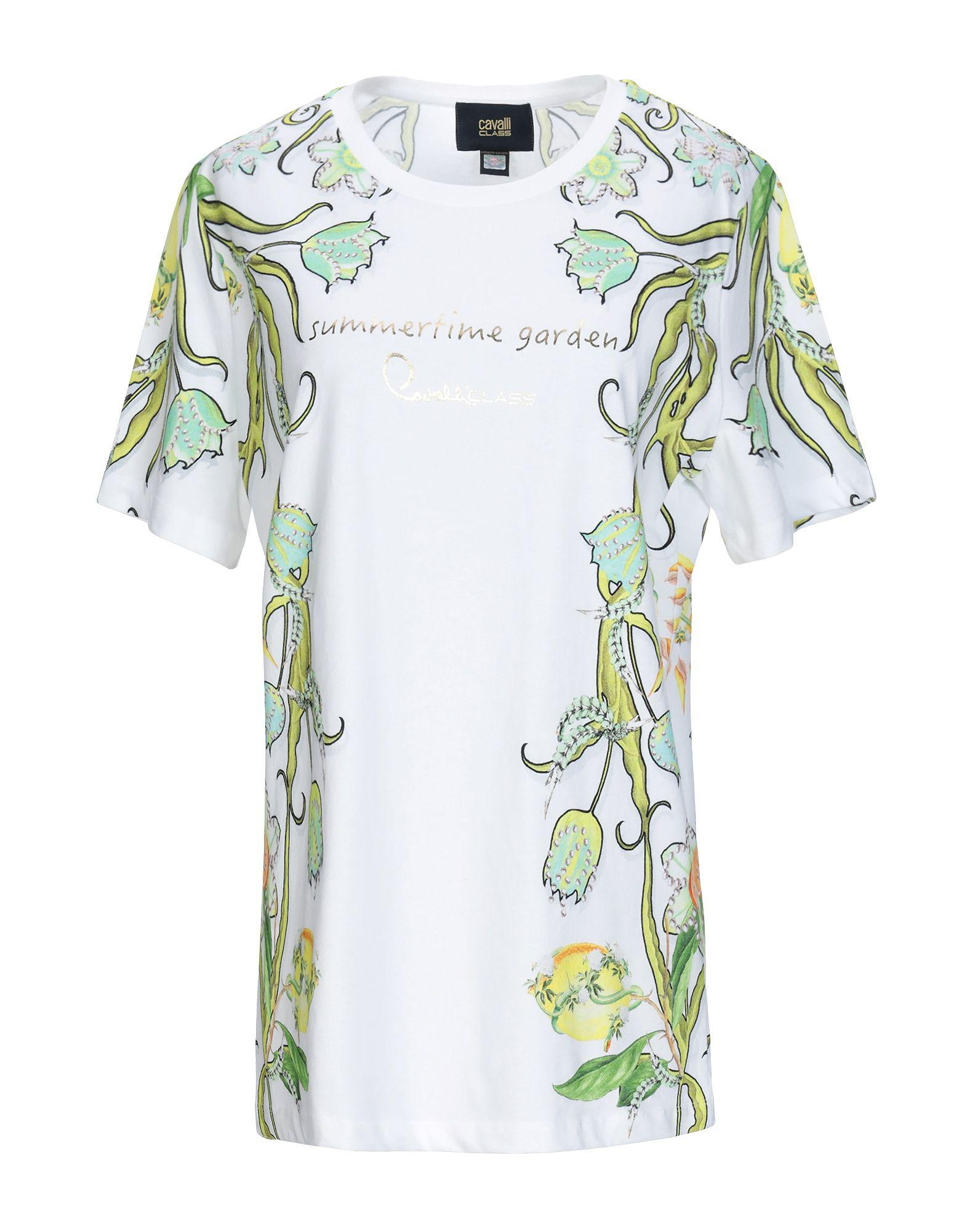 d836ded0b Class Roberto Cavalli T-shirt in White - Lyst