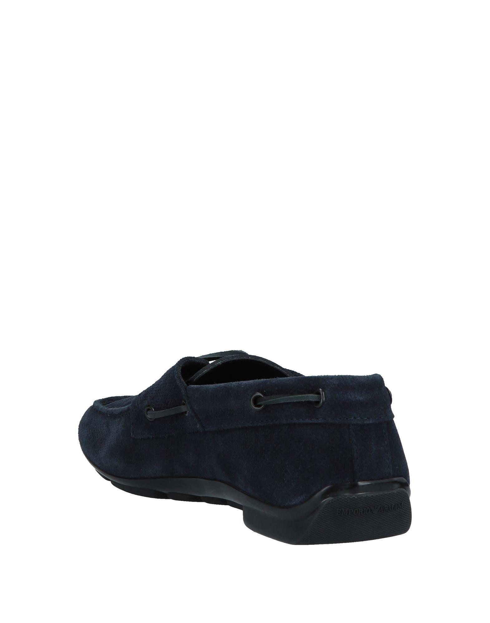 b43116613419 Lyst - Emporio Armani Loafer in Blue for Men
