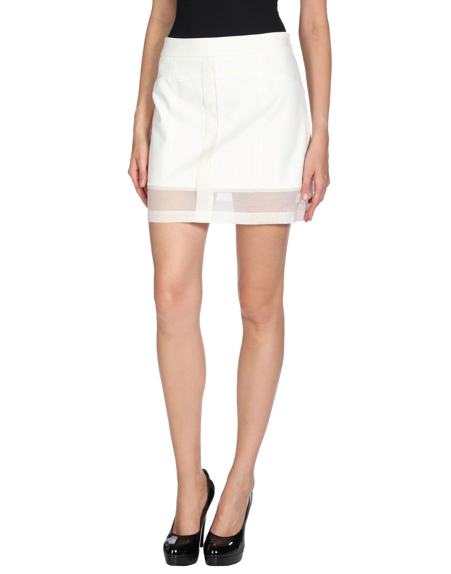 e40f50bf63 Lyst - 10 Crosby Derek Lam Mini Skirt in White