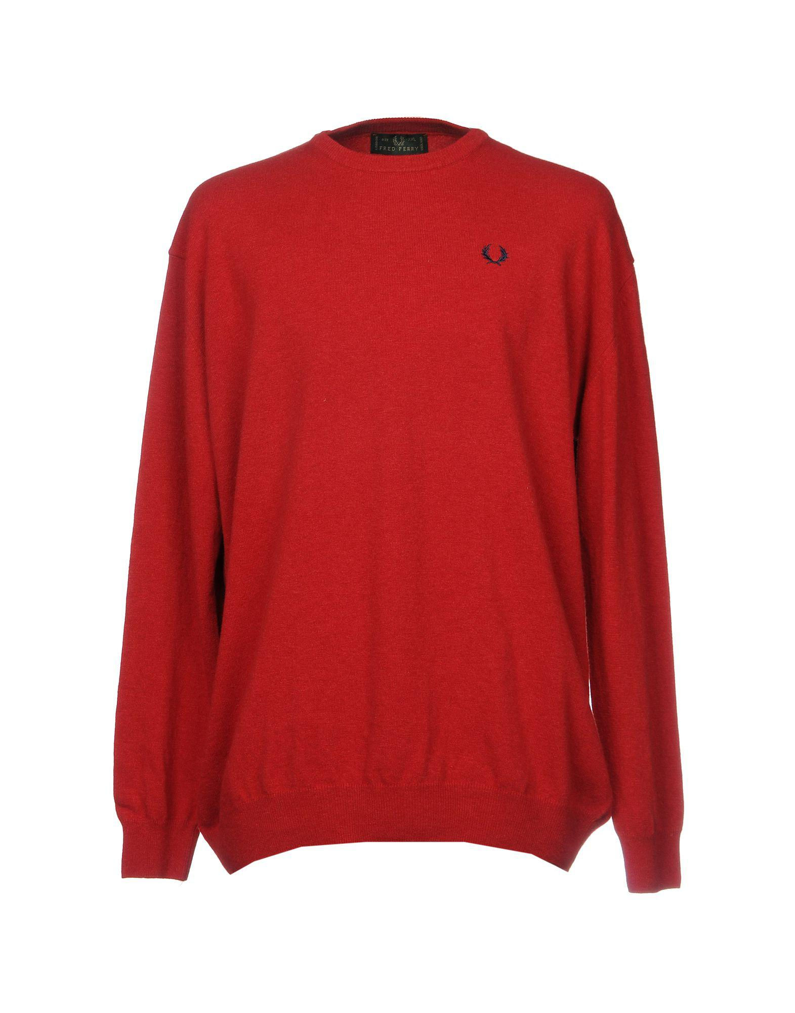 701762cdf5ce Fred Perry Jumper in Red for Men - Lyst
