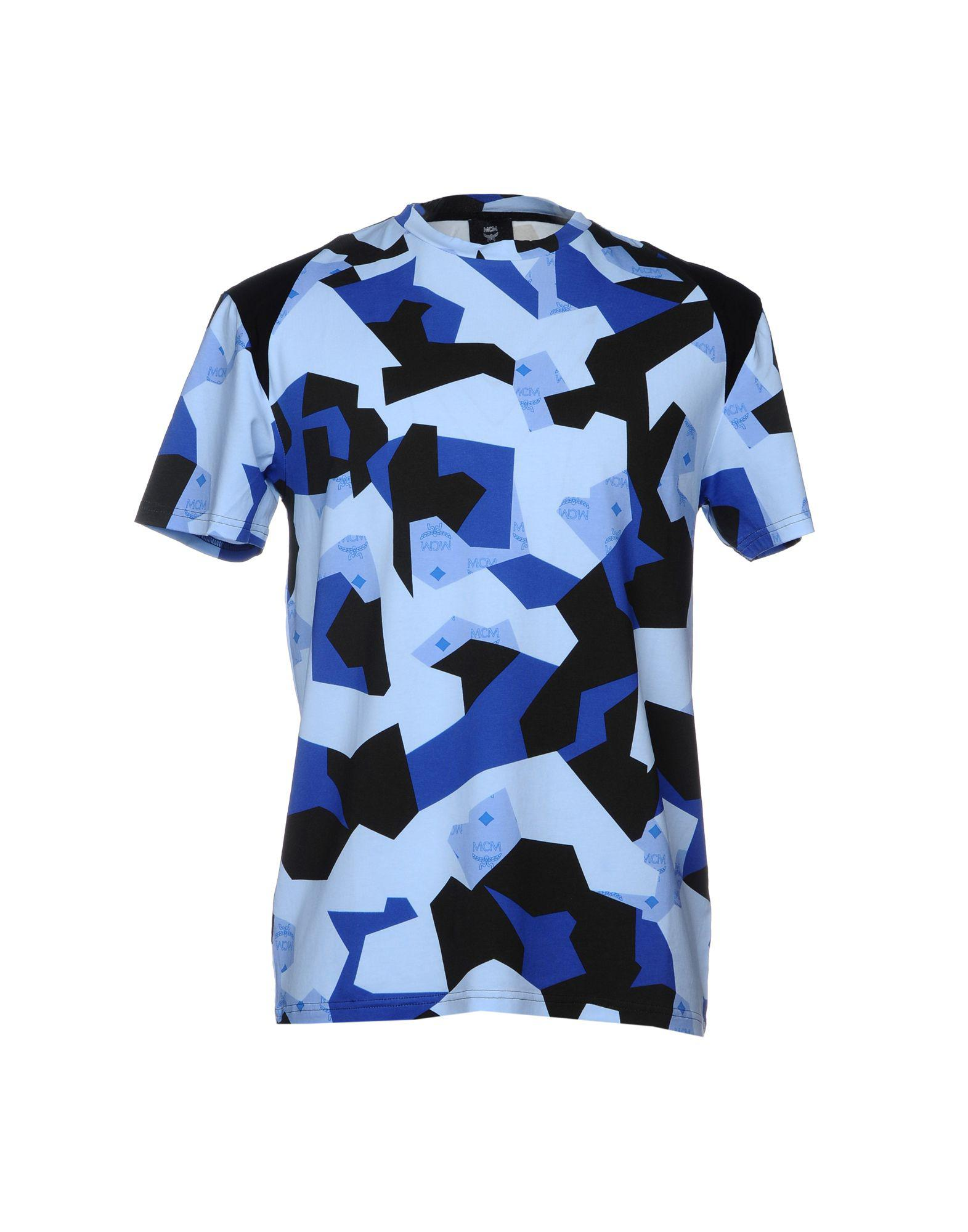 402f1a1bf MCM - Blue T-shirt for Men - Lyst. View fullscreen