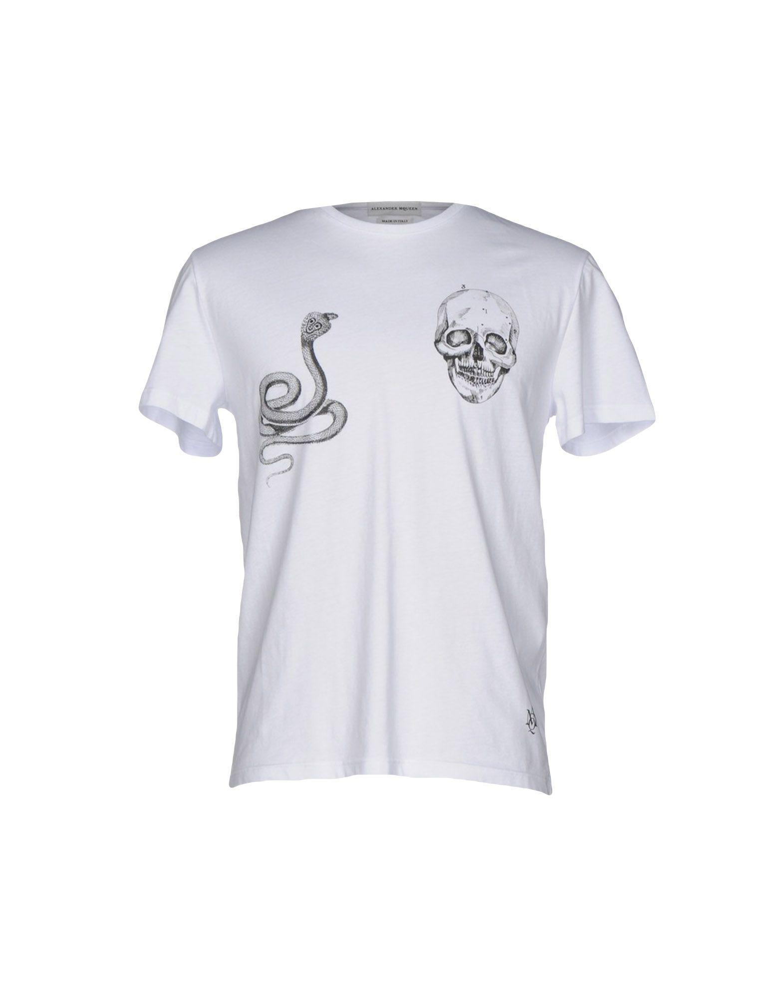 1b479c26 Lyst - Alexander McQueen T-shirt in White for Men